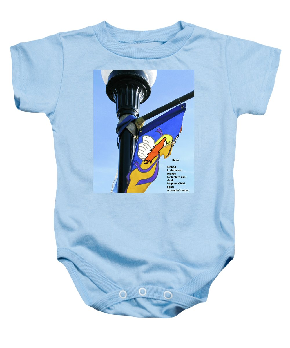 Light Baby Onesie featuring the photograph Hope by Ann Horn