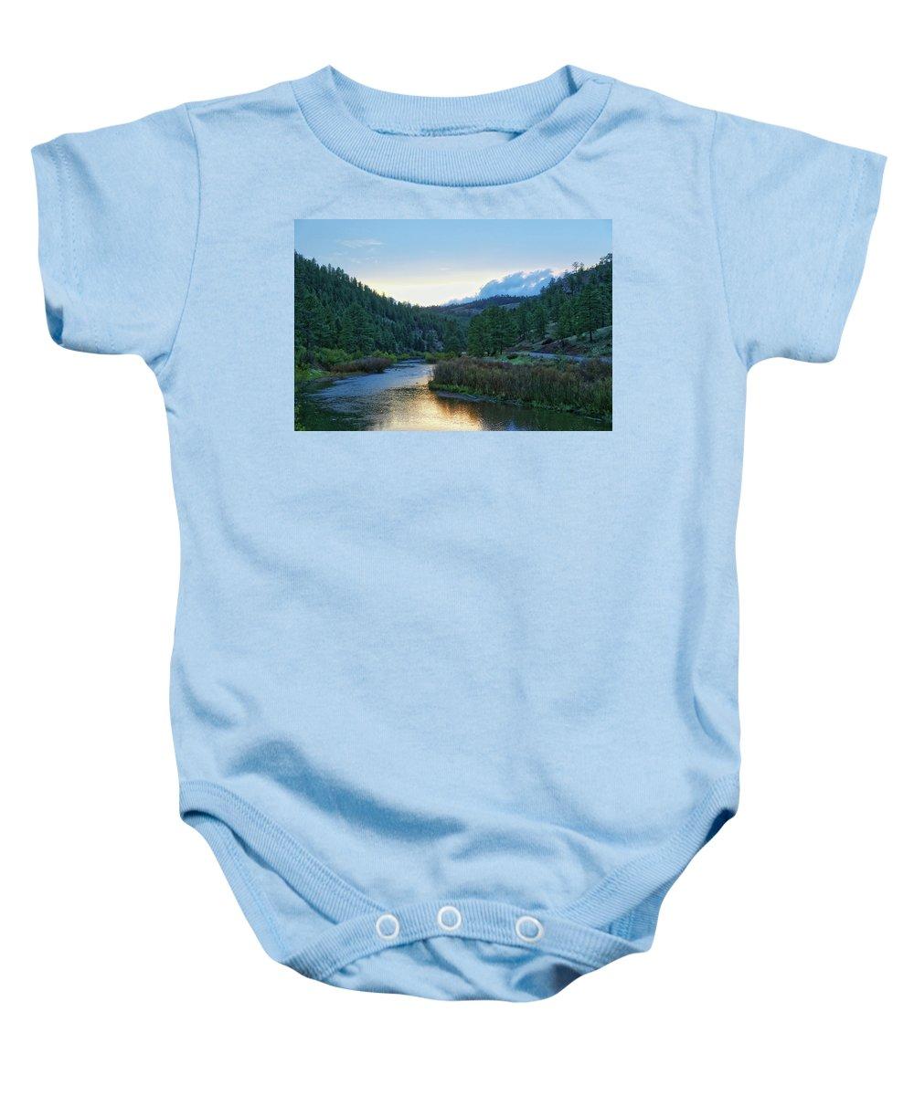 Horse Creek Baby Onesie featuring the photograph Horse Creek by Lorraine Baum
