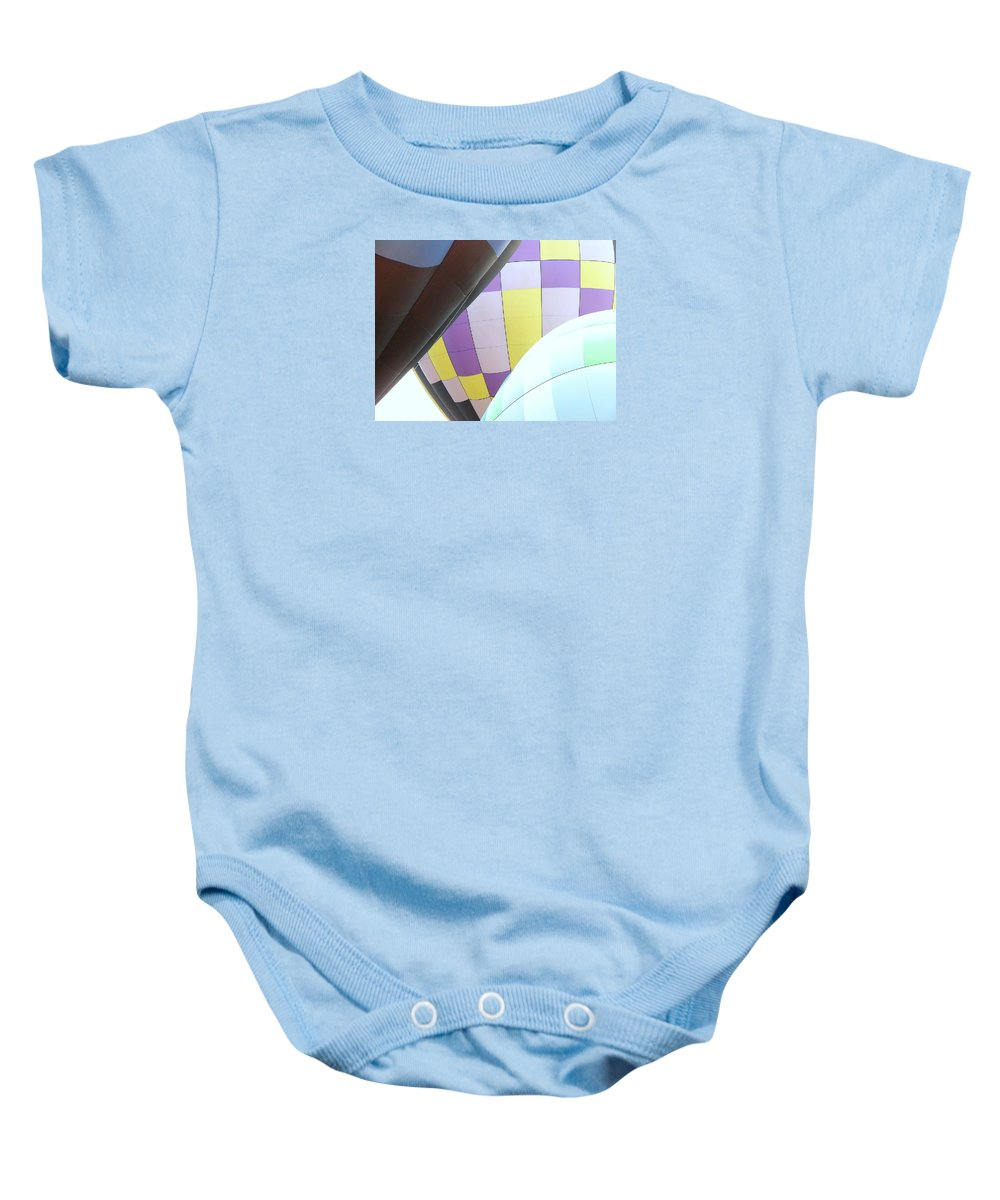 Balloons Baby Onesie featuring the photograph Hot Air Rising by J R Seymour