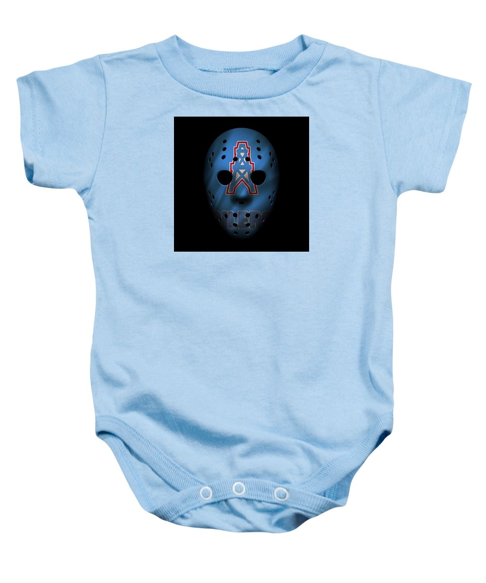 078a046d4 Oilers Baby Onesie featuring the photograph Houston Oilers War Mask by Joe  Hamilton