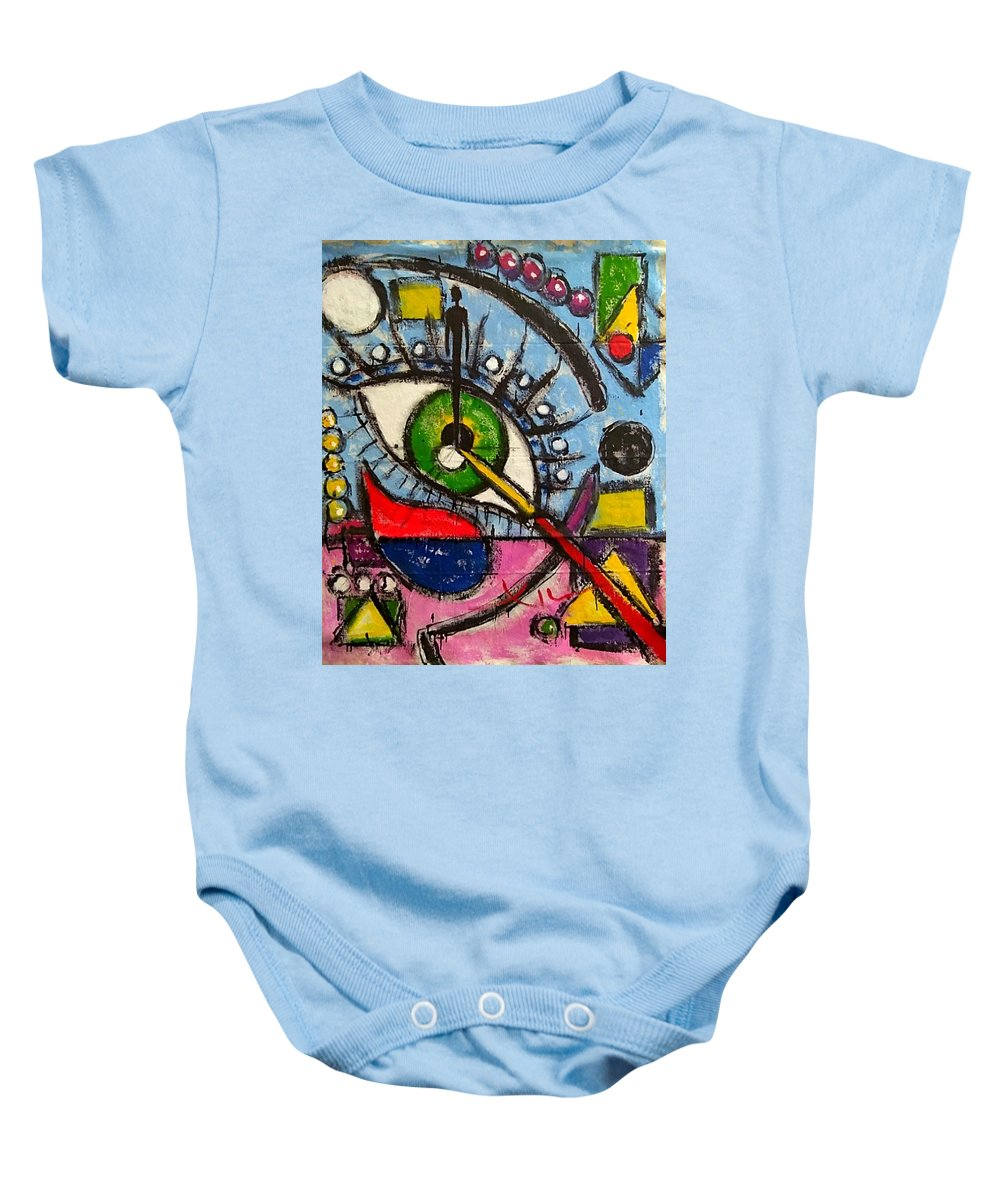 Victor Xiu The Best Greatest Artist Kool New Newest Freeist Paintings Best Affordable Colorful Baby Onesie featuring the painting I Am All by Victor Xiu