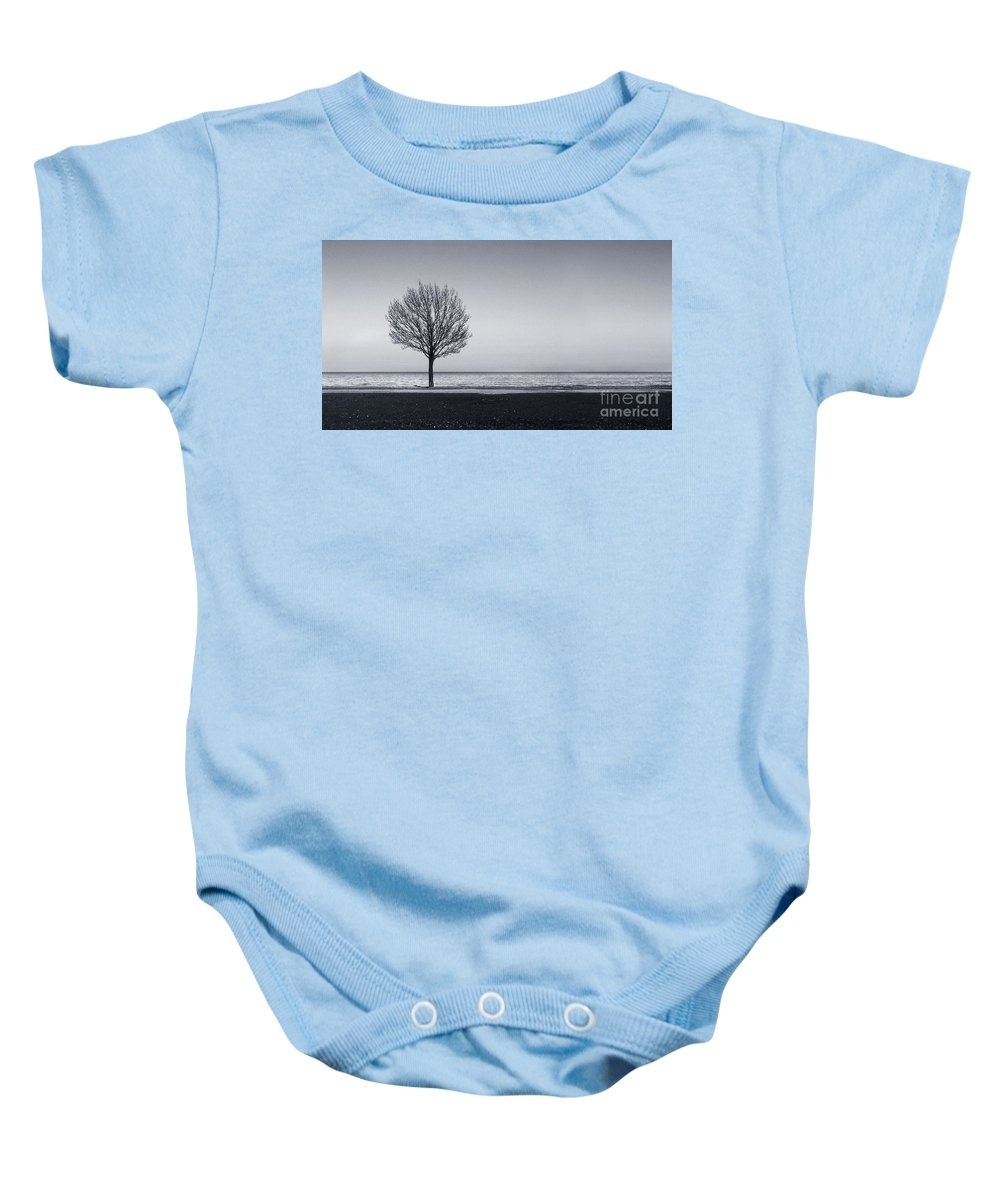 Tree Baby Onesie featuring the photograph I Didnt Hear You Leaving by Dana DiPasquale