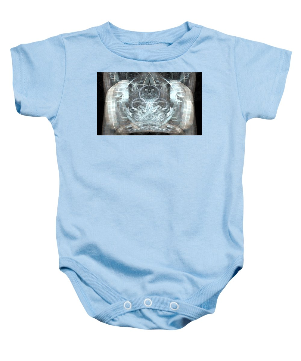 Meditative Baby Onesie featuring the digital art Ice Temple by Emilio Pacheco