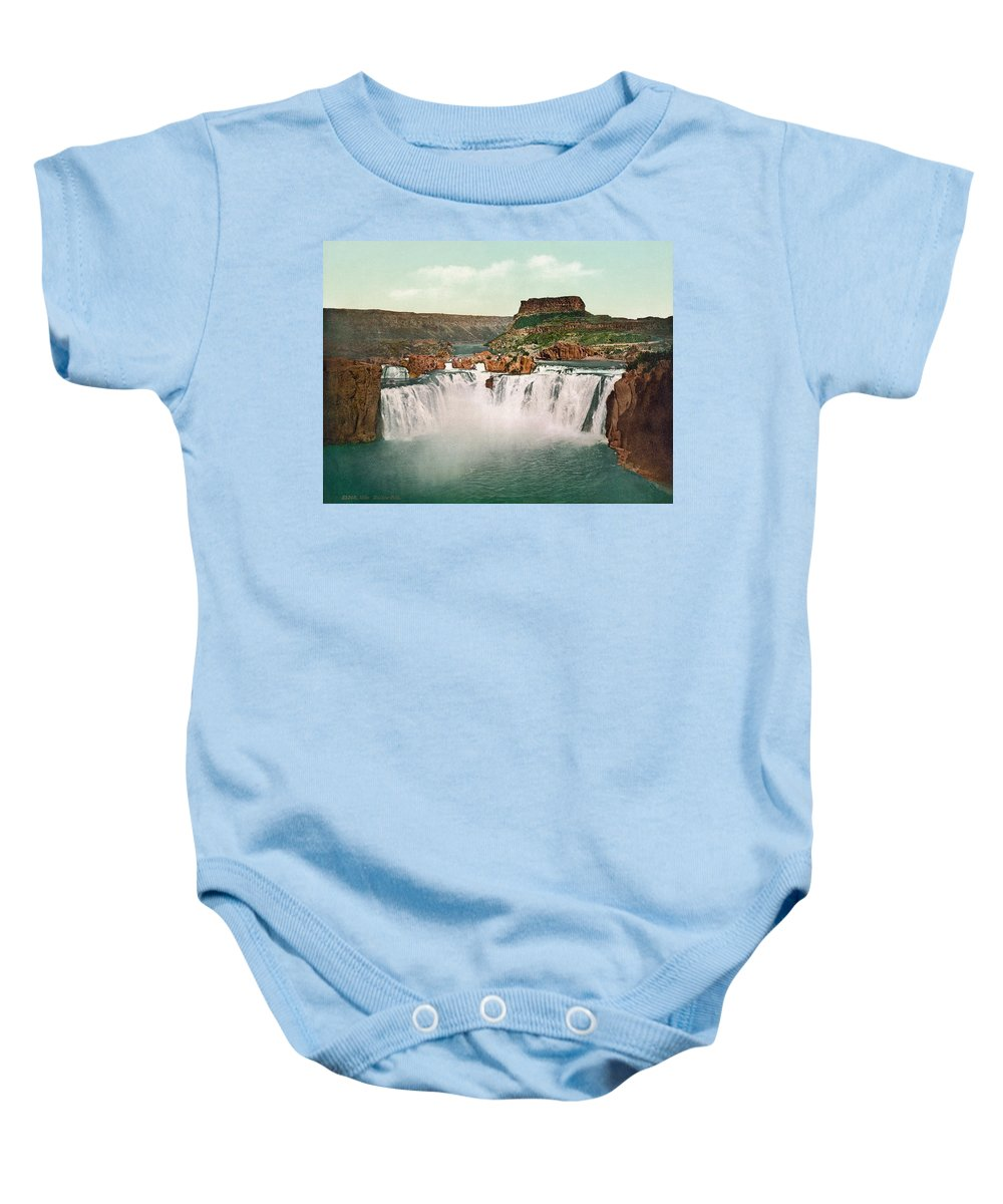 1898 Baby Onesie featuring the photograph Idaho: Shoshone Falls by Granger