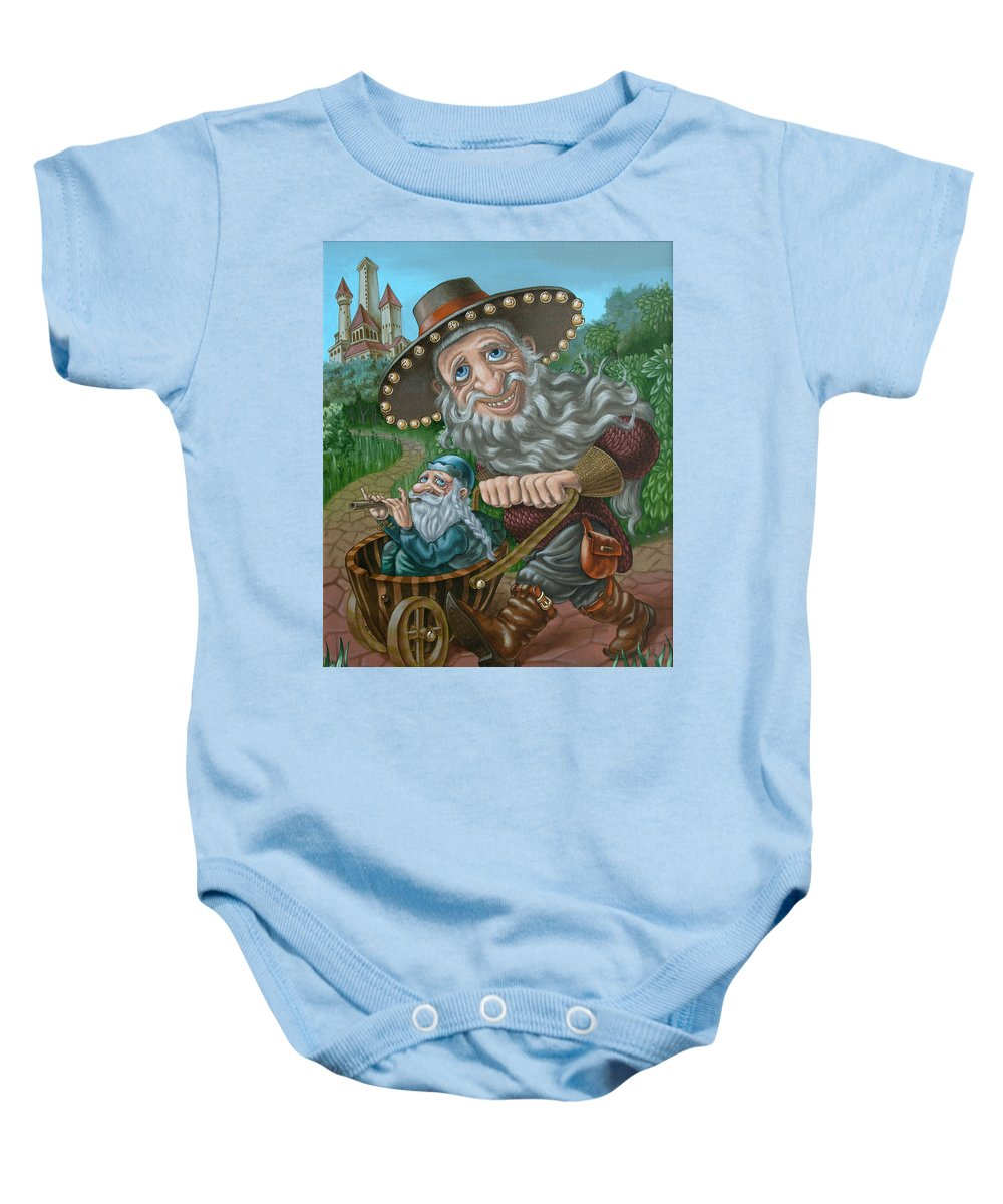 Gnome Baby Onesie featuring the painting Impresario by Victor Molev