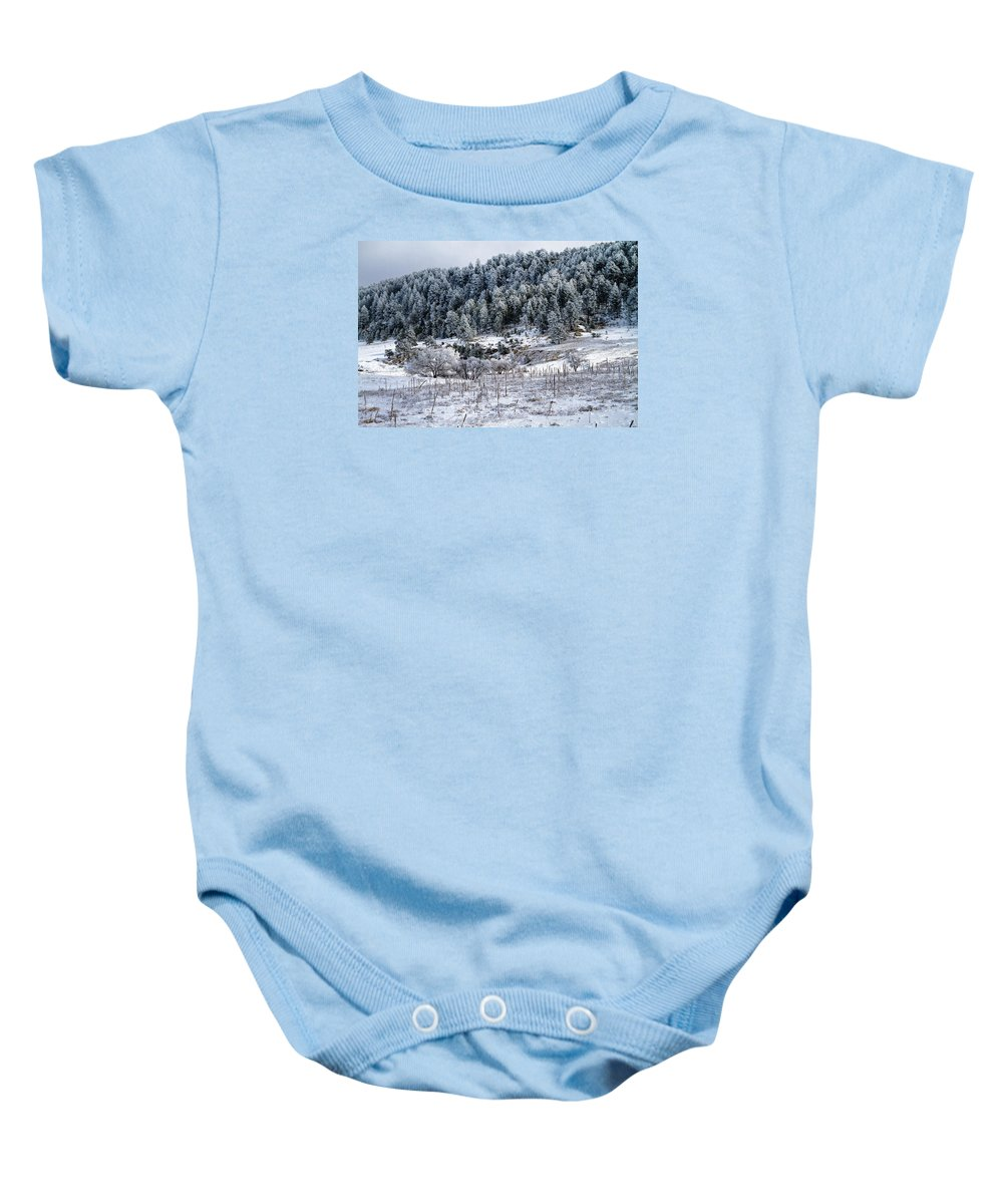 Landscape Baby Onesie featuring the photograph Into The Valley by Alana Thrower