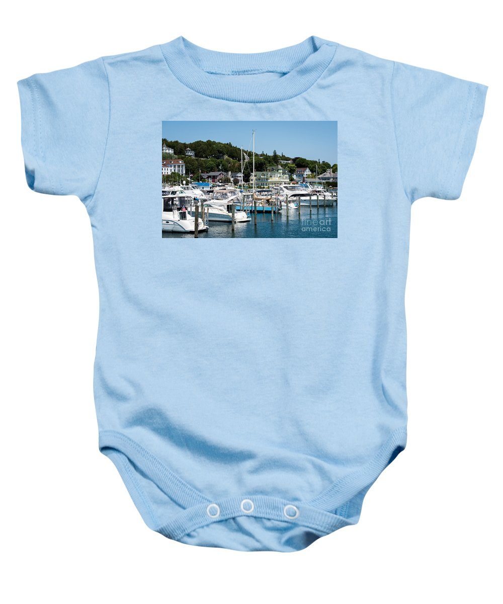 Boating Baby Onesie featuring the photograph Island Boating by Wesley Farnsworth