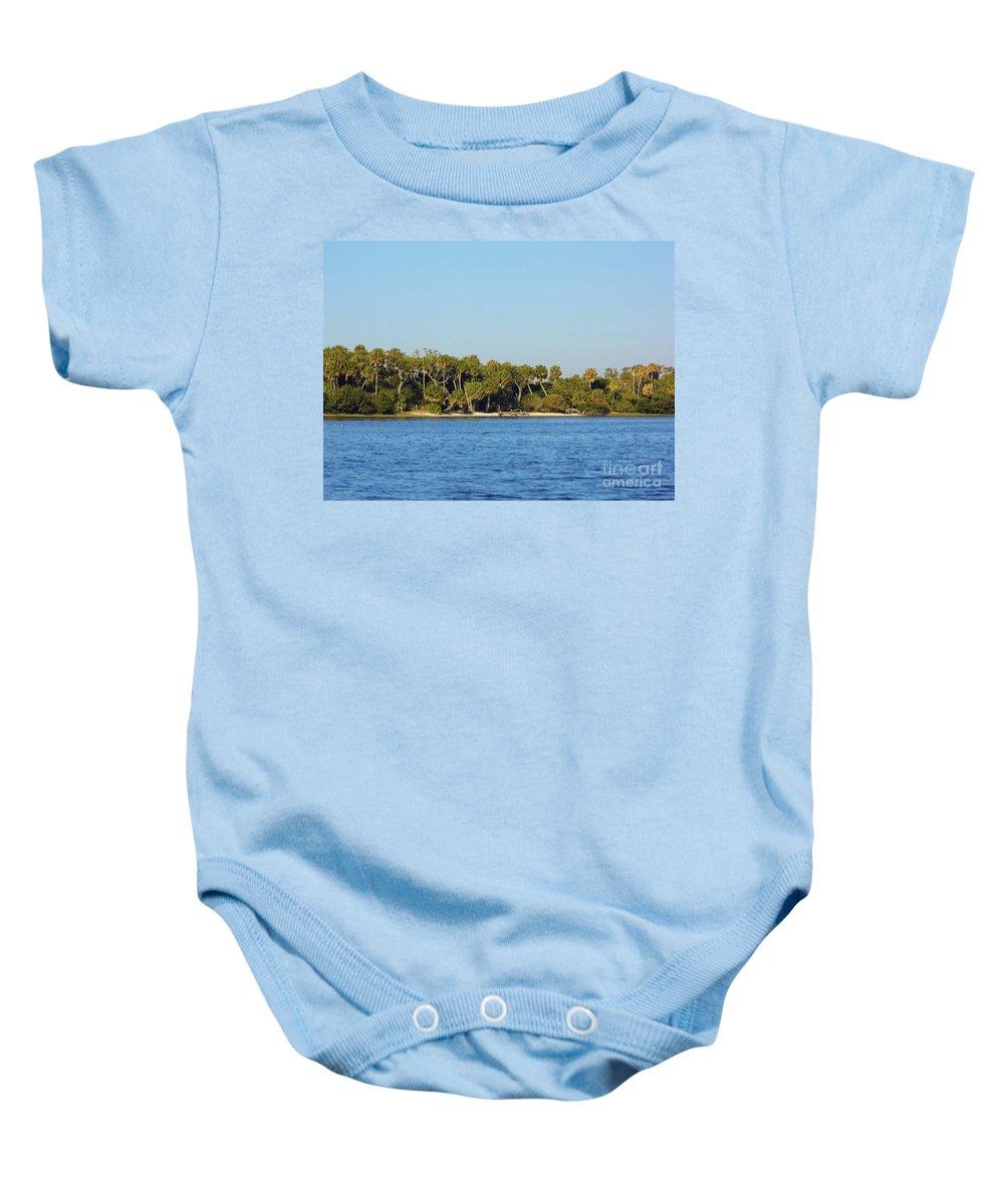 Island Baby Onesie featuring the photograph Island Off Of Cedar Key by D Hackett