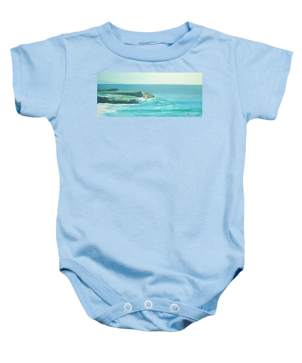 Its Beach Baby Onesie featuring the painting Its Beach by Peter Forbes