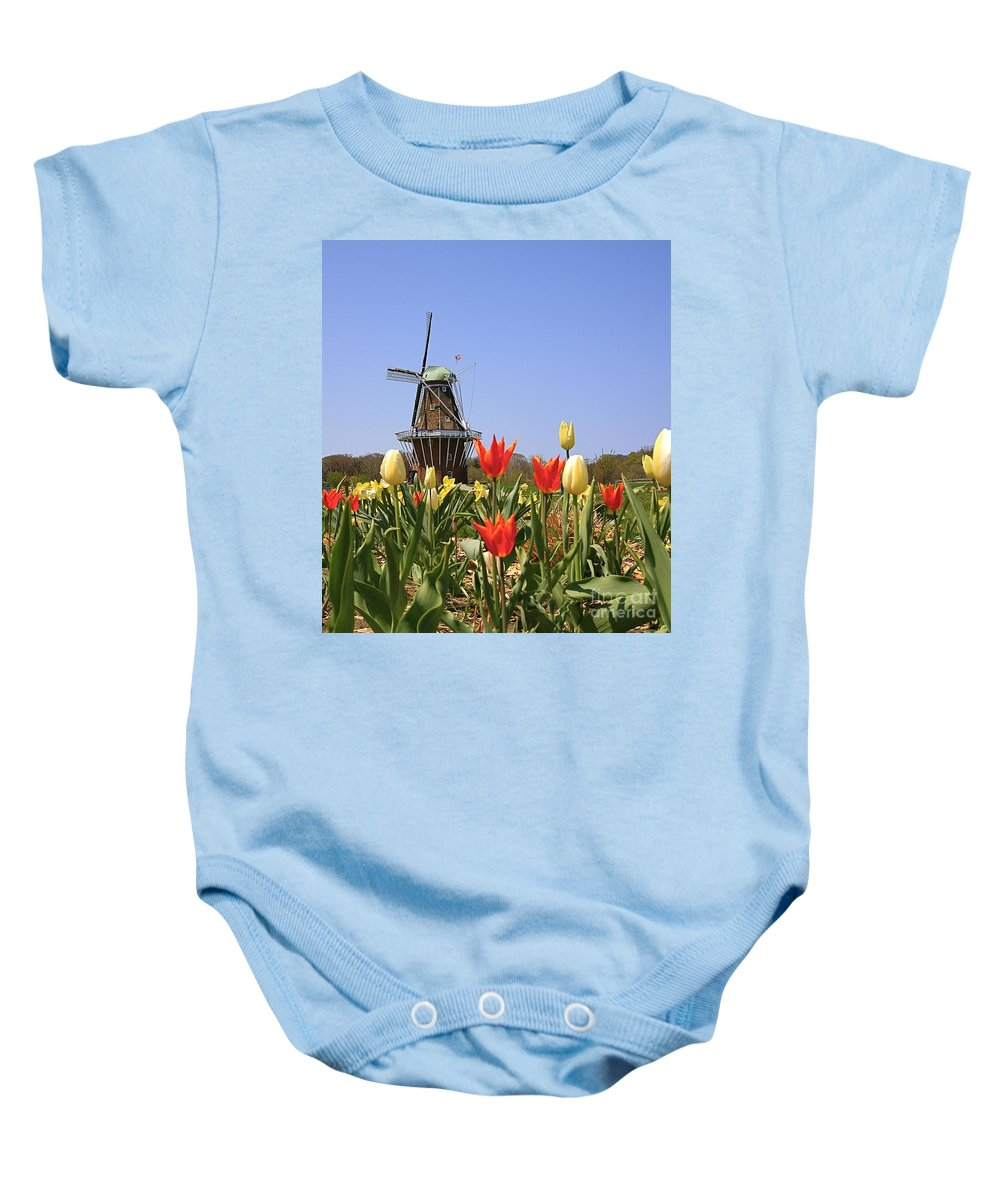 Tulips Baby Onesie featuring the photograph Its Tulip Time by Robert Pearson