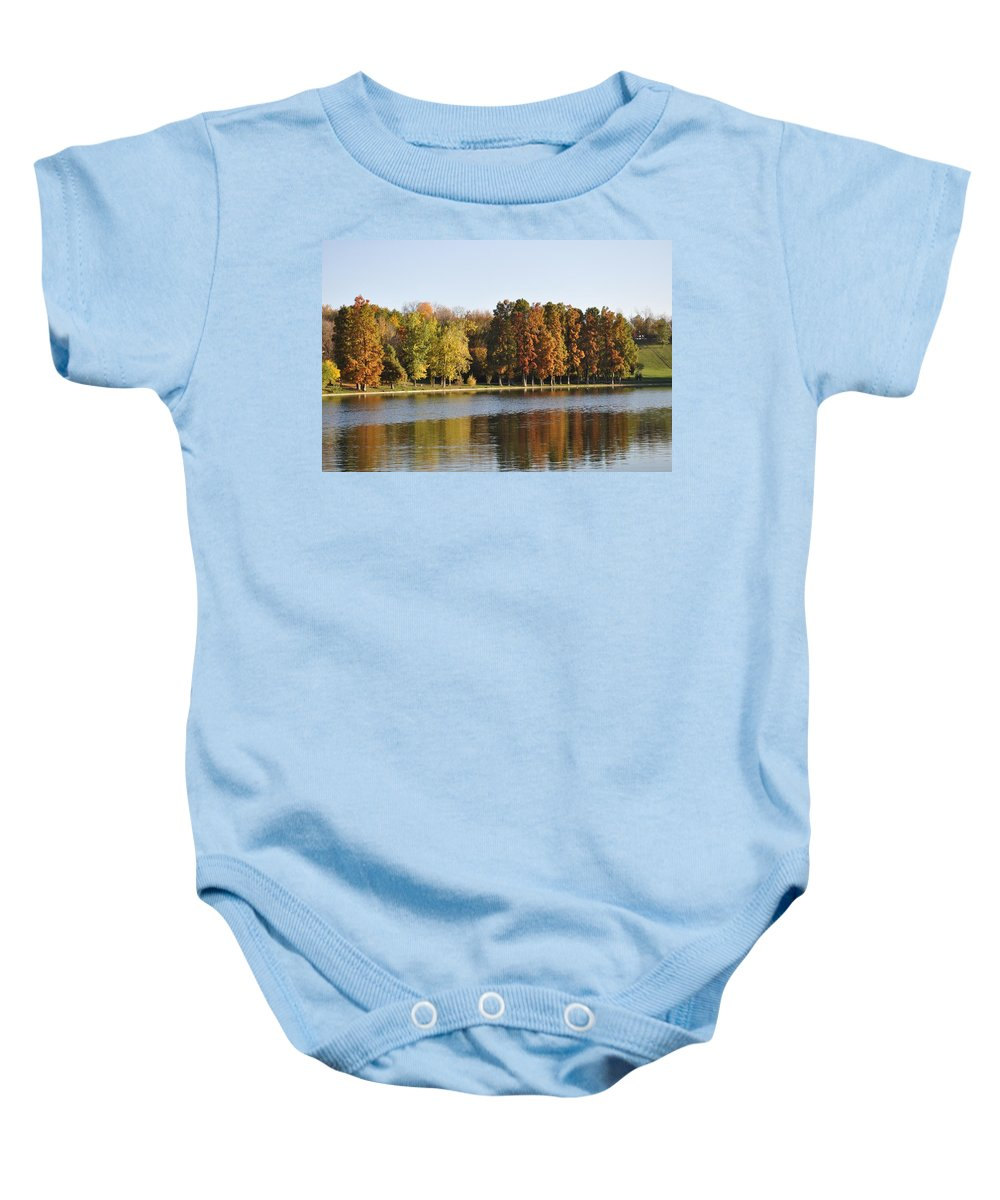 Park Autumn Baby Onesie featuring the photograph It's Up To You To Express by Georgeta Blanaru