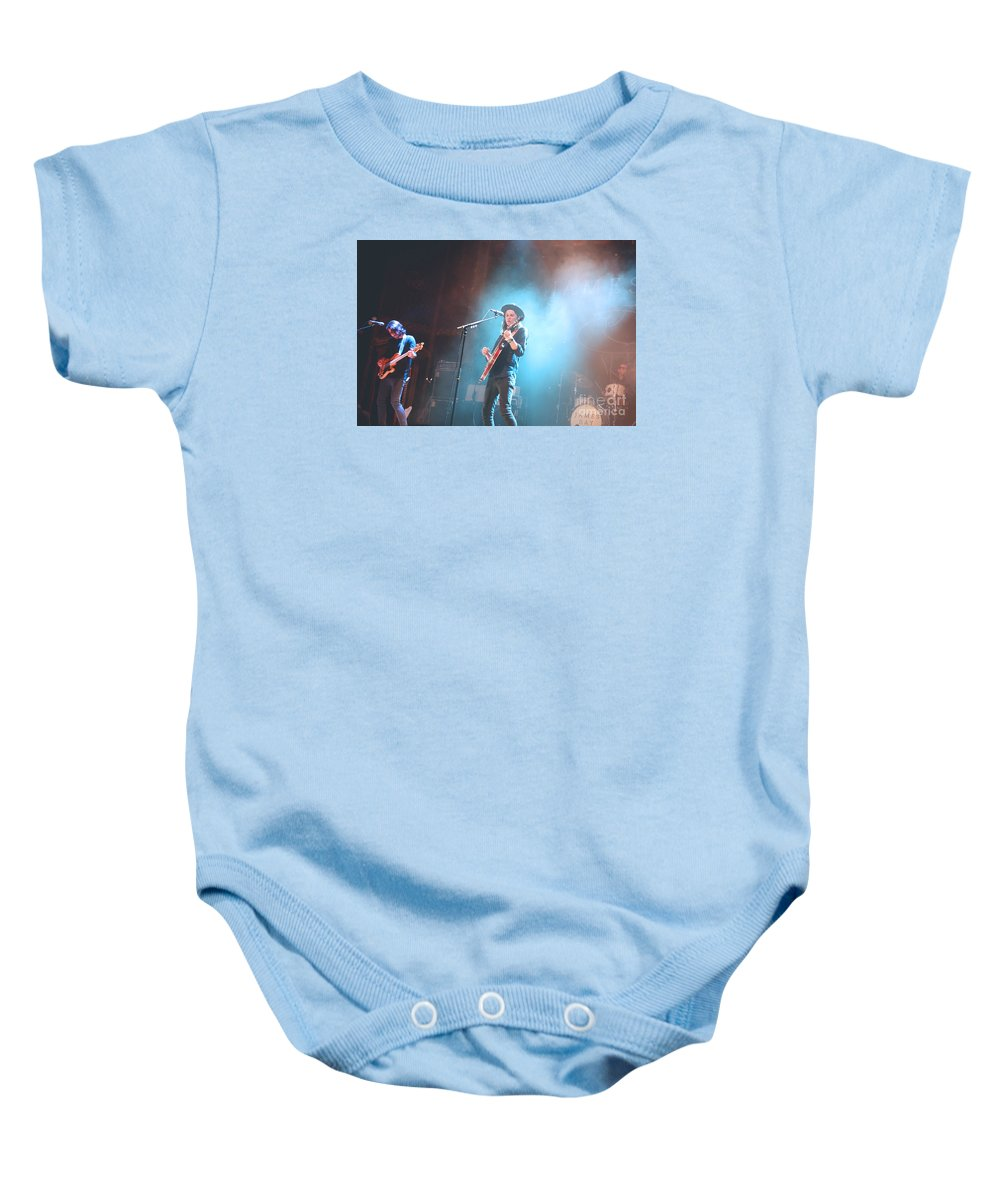James Baby Onesie featuring the photograph James Bay by Jennifer Mecca