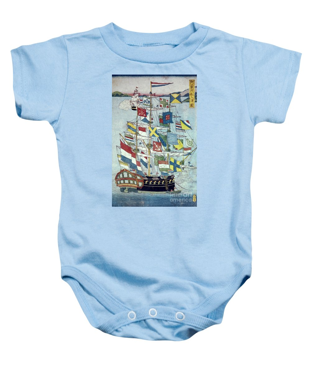19th Century Baby Onesie featuring the photograph Japan: Dutch Ship by Granger