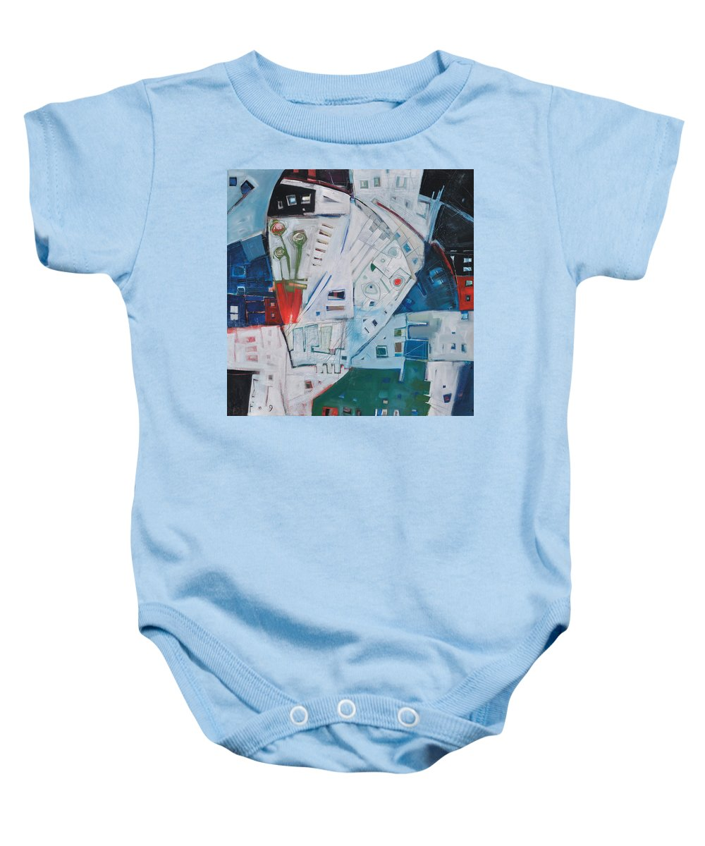 Jazz Baby Onesie featuring the painting Jazz In Bloom by Tim Nyberg
