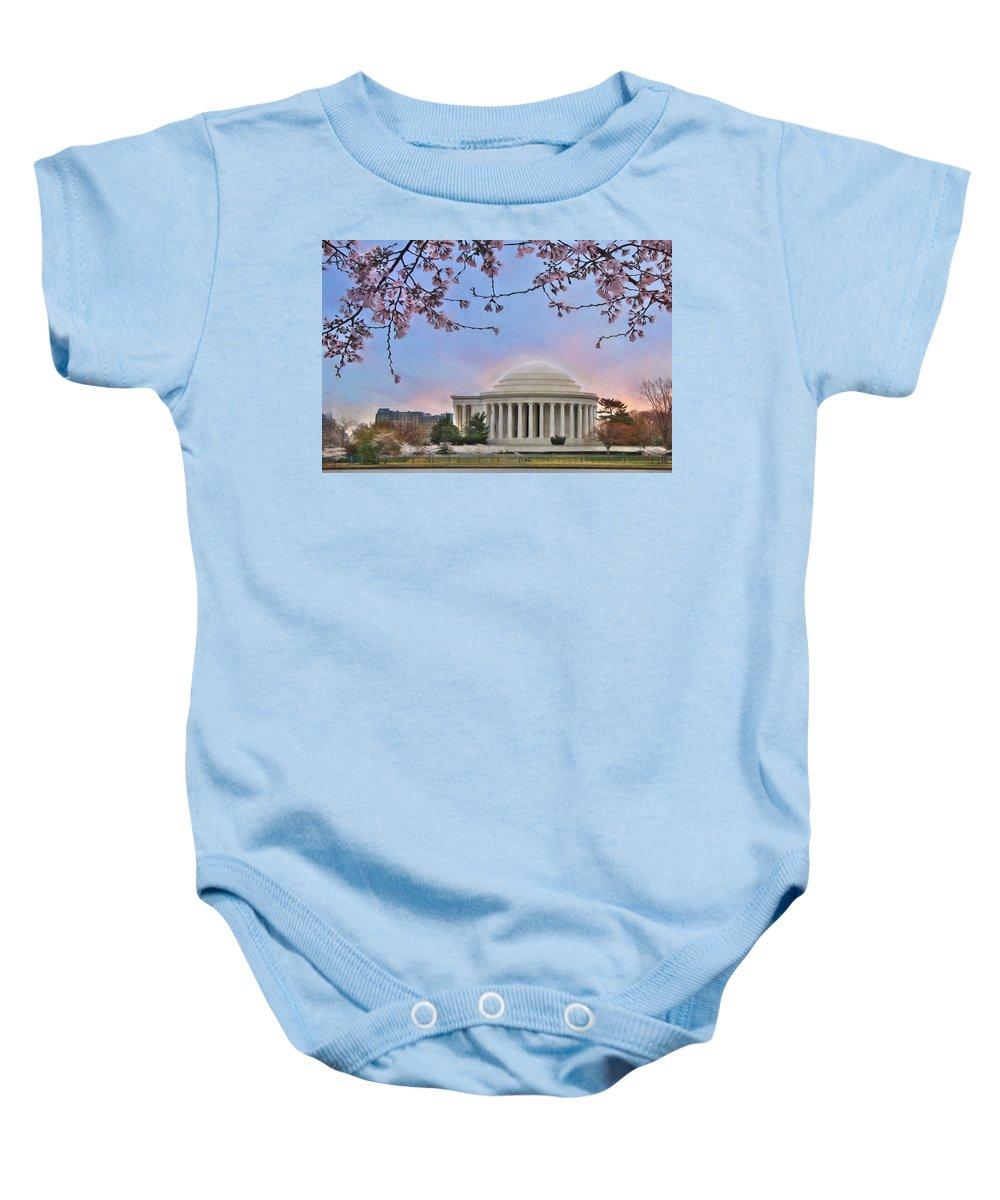 Thomas Jefferson Memorial Baby Onesie featuring the photograph Jefferson Memorial by Lori Deiter