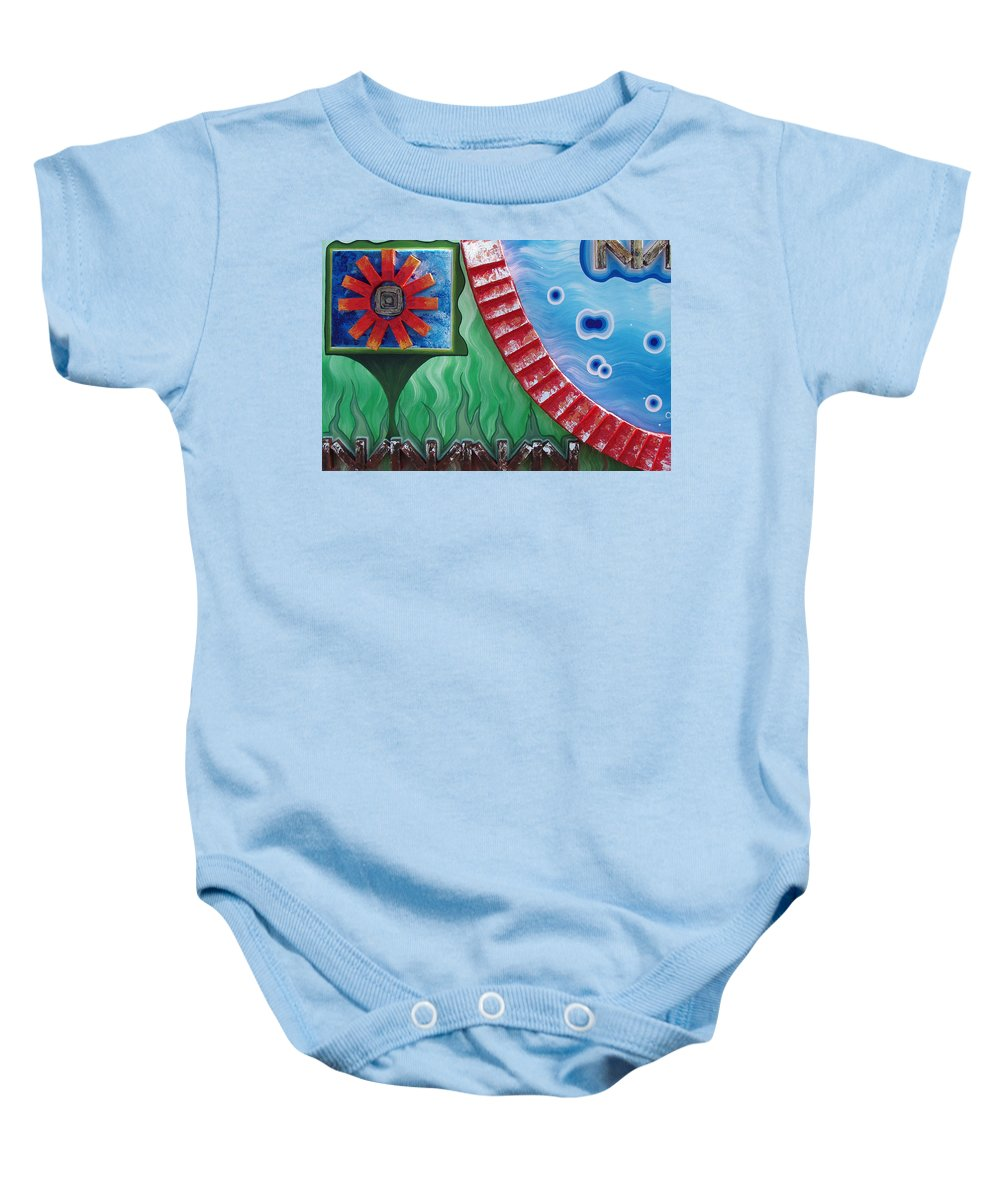 Journey Of Life Baby Onesie featuring the painting Journey Of Life by Catt Kyriacou