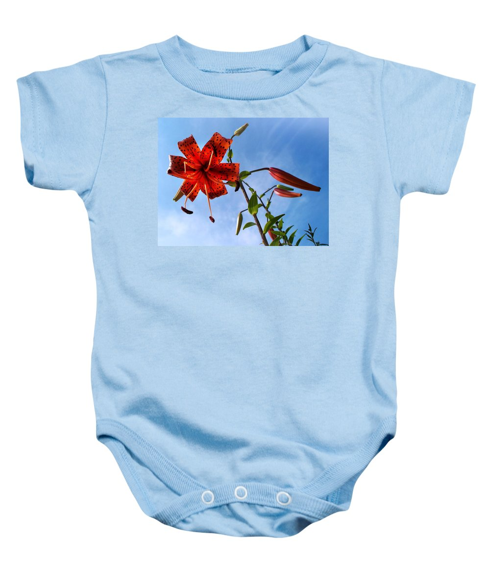 July Baby Onesie featuring the photograph July by Joy Nichols
