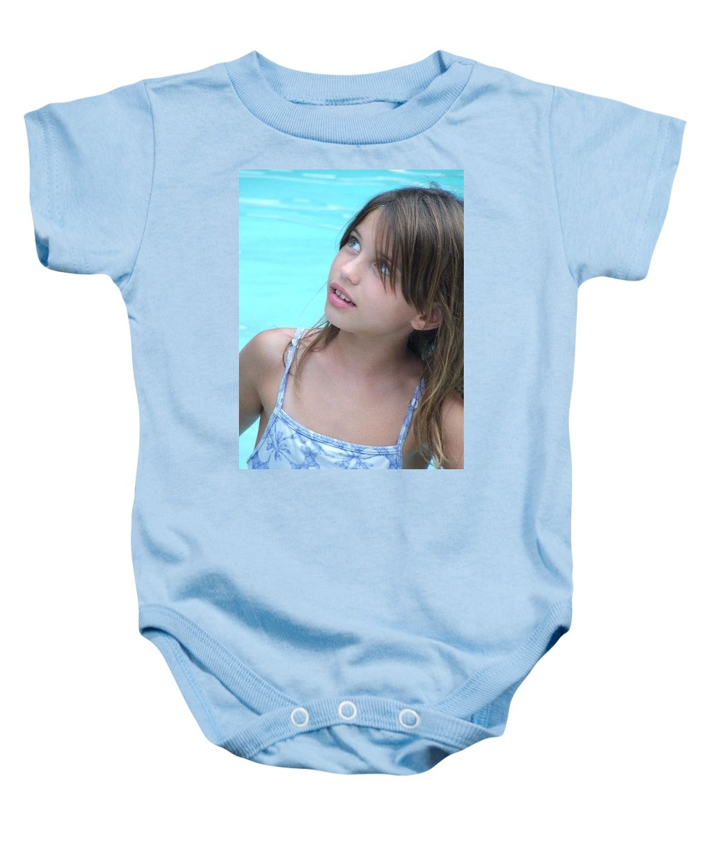 Baby Onesie featuring the photograph Julz by Michelle S White