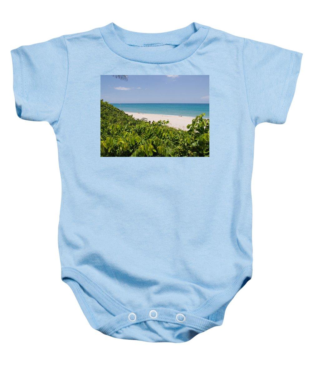 Juno; Florida; Loxahatchee; River; Jupiter; Inlet; Swim; Swimming; Children; Girl; Boy; Woman; Man; Baby Onesie featuring the photograph Juno Beach In Florida by Allan Hughes