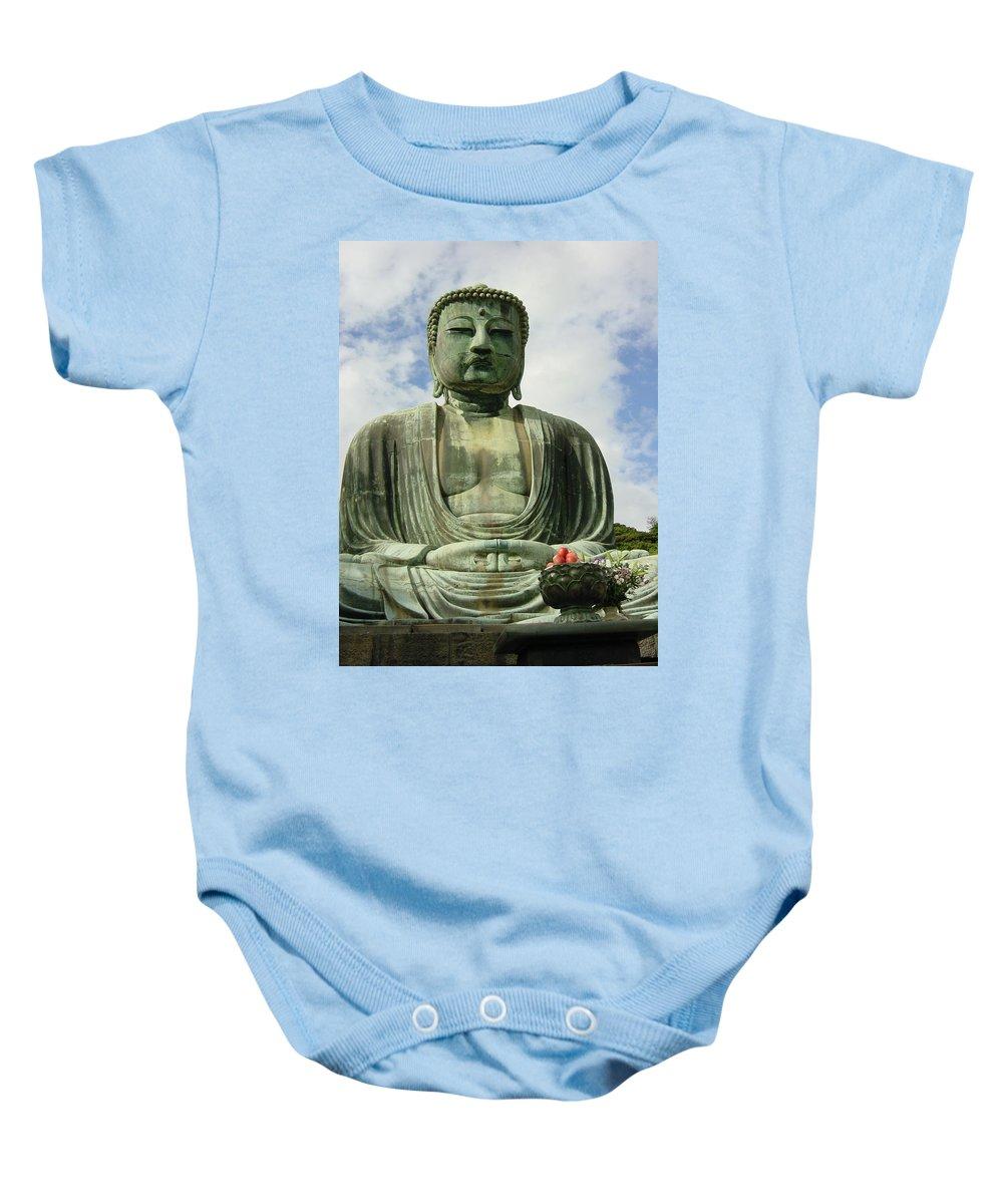 Buddha Baby Onesie featuring the photograph Kamakura Daibutsu by D Turner