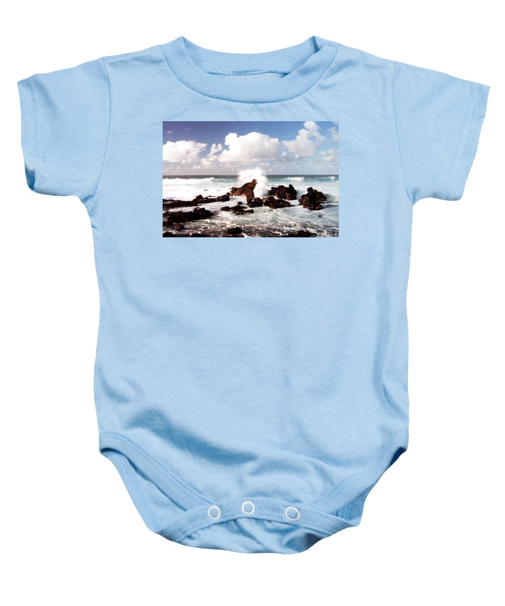 1986 Baby Onesie featuring the photograph Keanae Peninsula by Will Borden