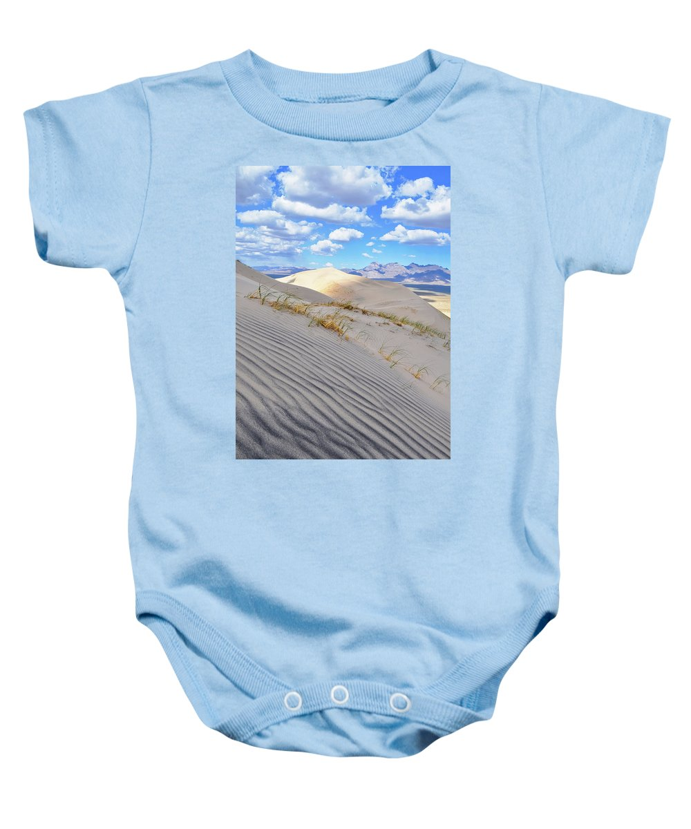 Mojave Desert Baby Onesie featuring the photograph Kelso Dunes Desert Portrait by Kyle Hanson