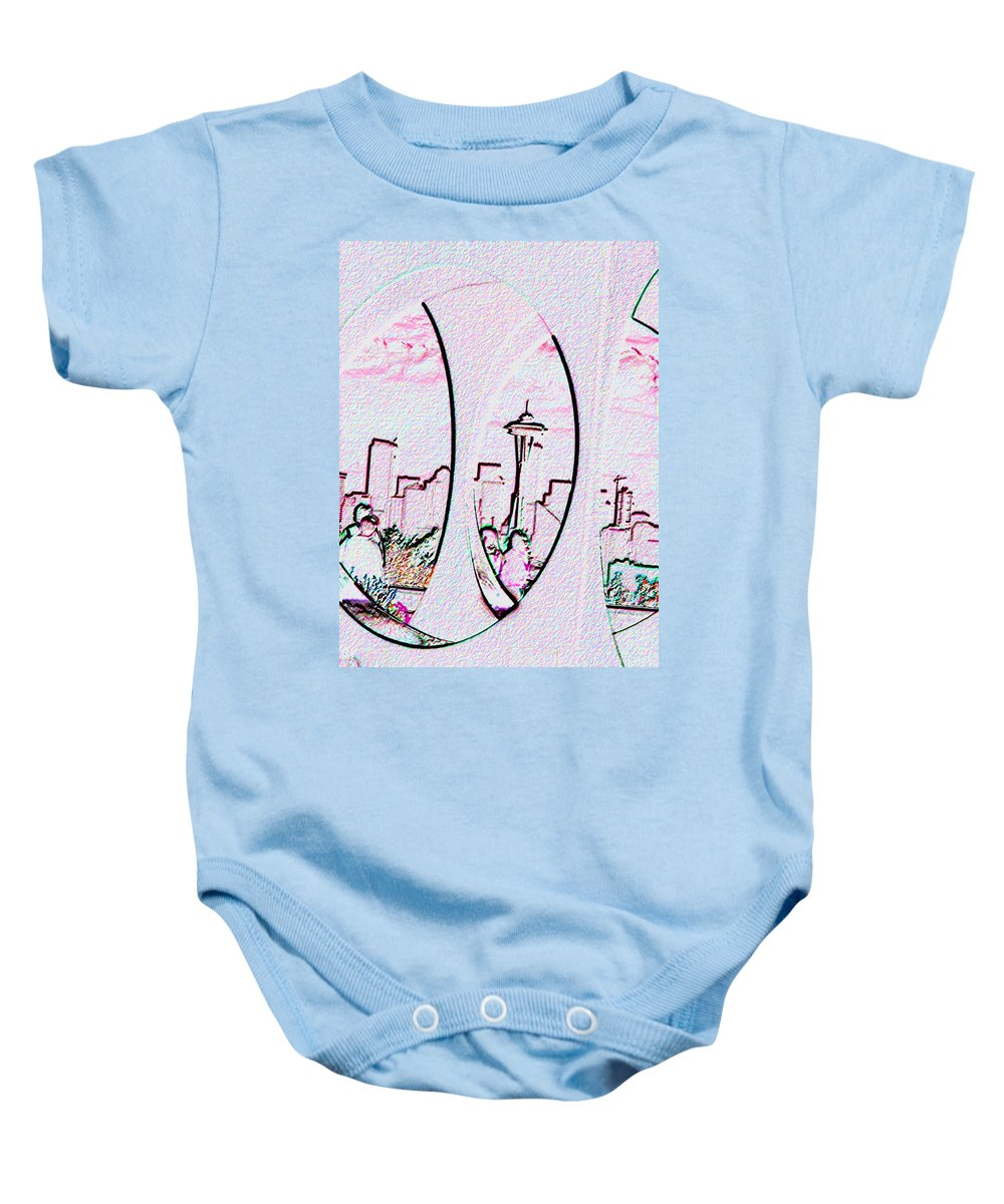Seattle Baby Onesie featuring the photograph Kerry Needle 2 by Tim Allen