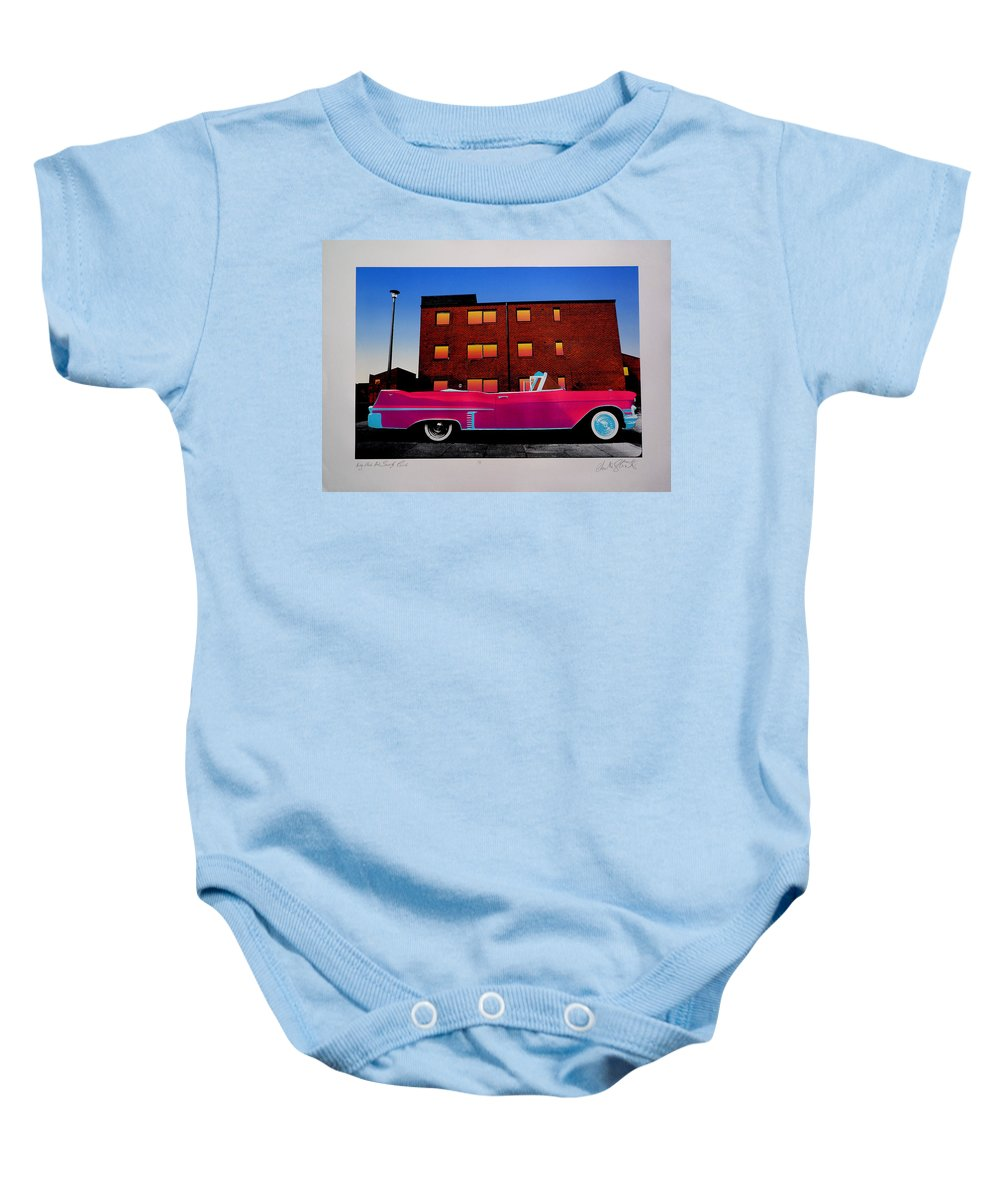 Baby Onesie featuring the photograph King Elvis Has Surely Come by Charles Stuart