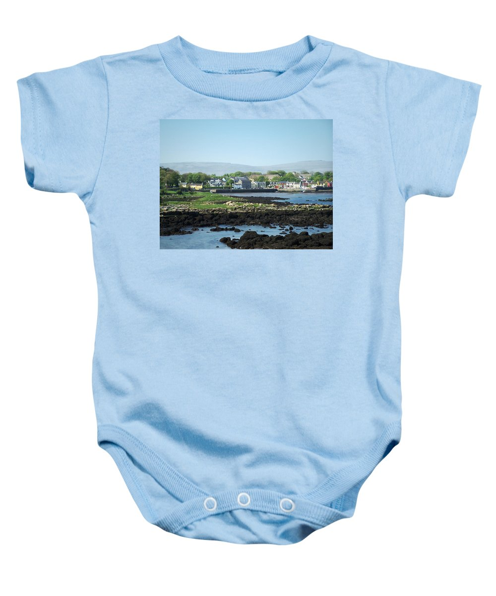 Irish Baby Onesie featuring the photograph Kinvara Seaside Village Galway Ireland by Teresa Mucha
