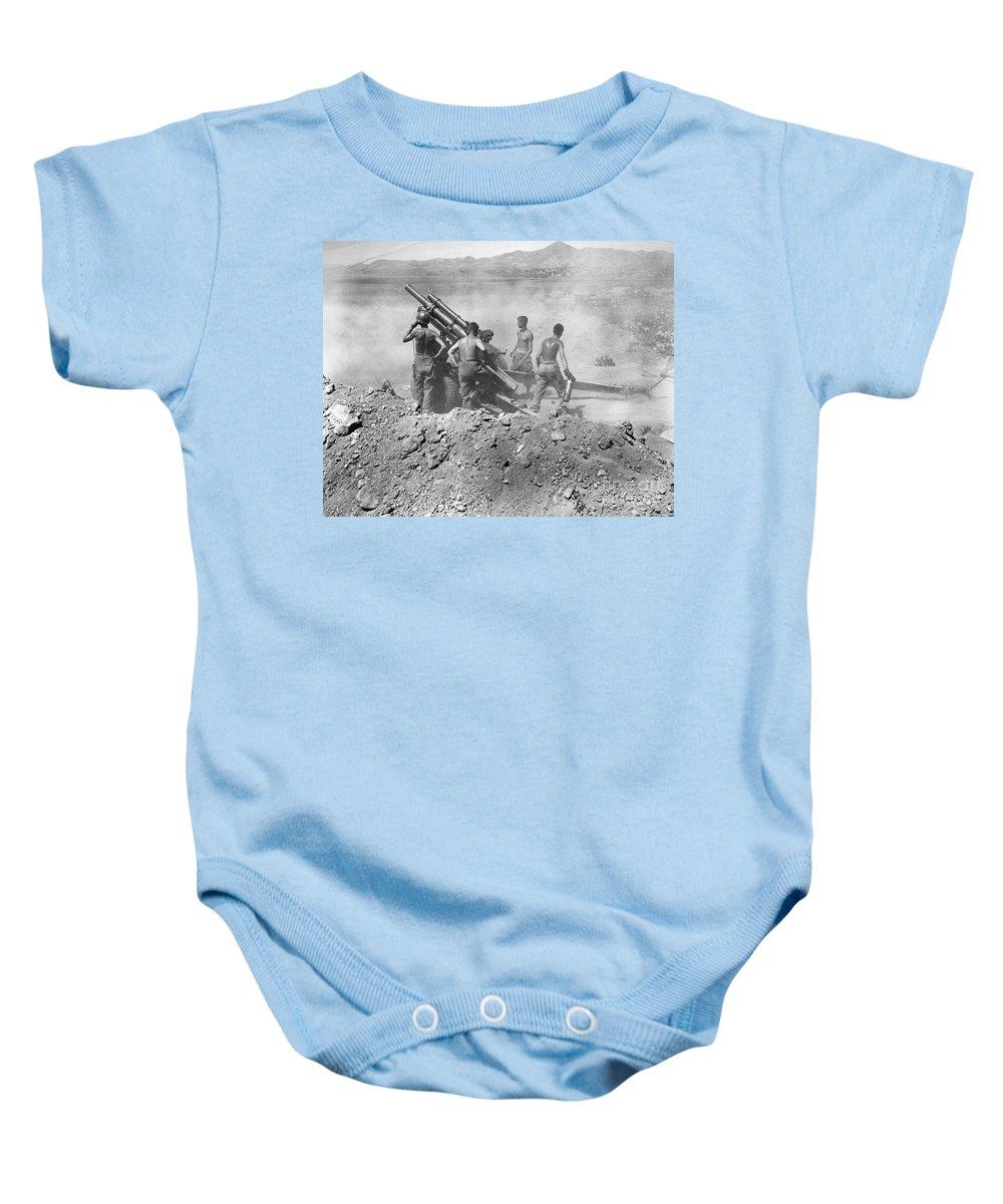 1950 Baby Onesie featuring the photograph Korean War: Artillery by Granger
