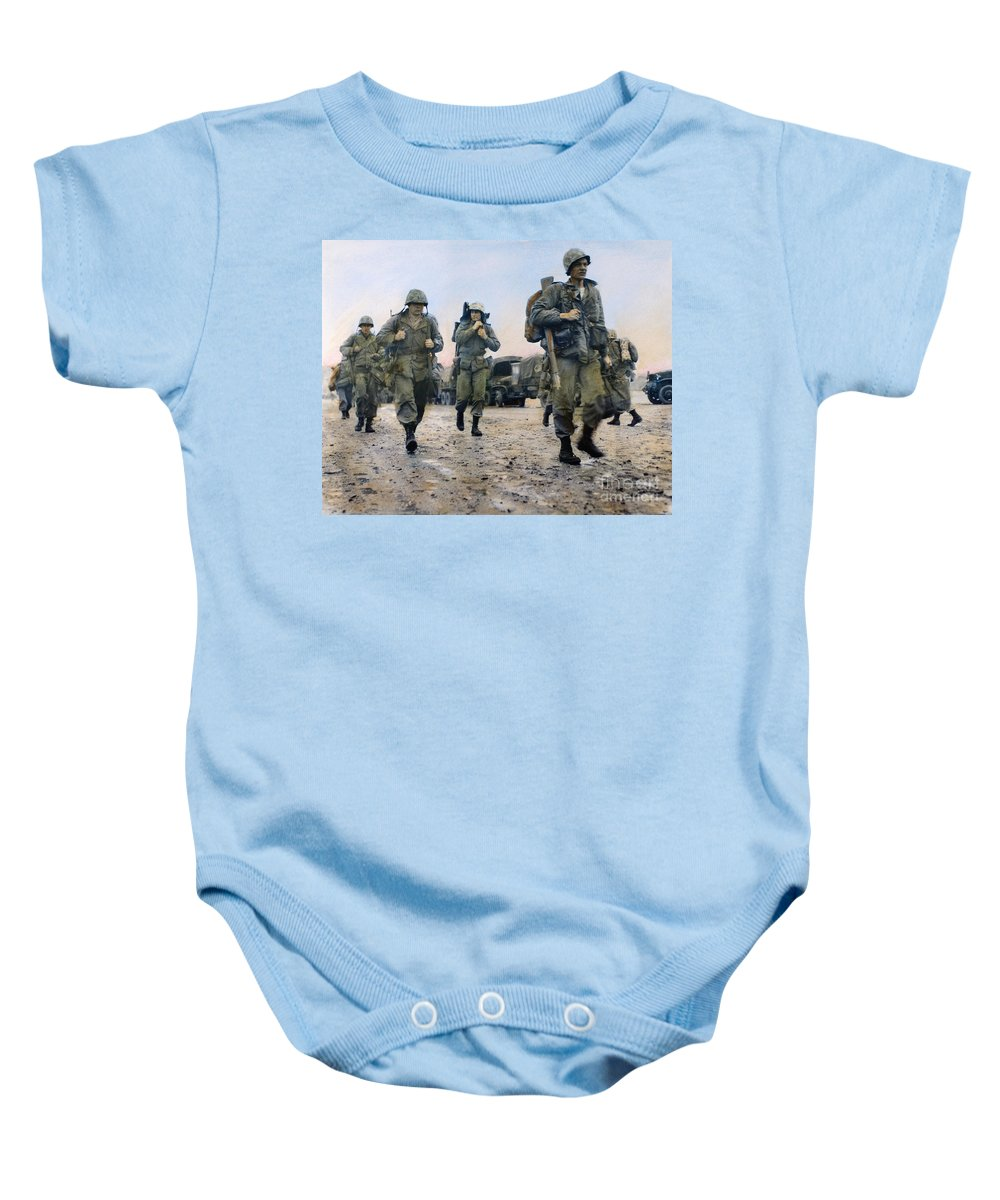 1953 Baby Onesie featuring the photograph Korean War: Marines, 1953 by Granger