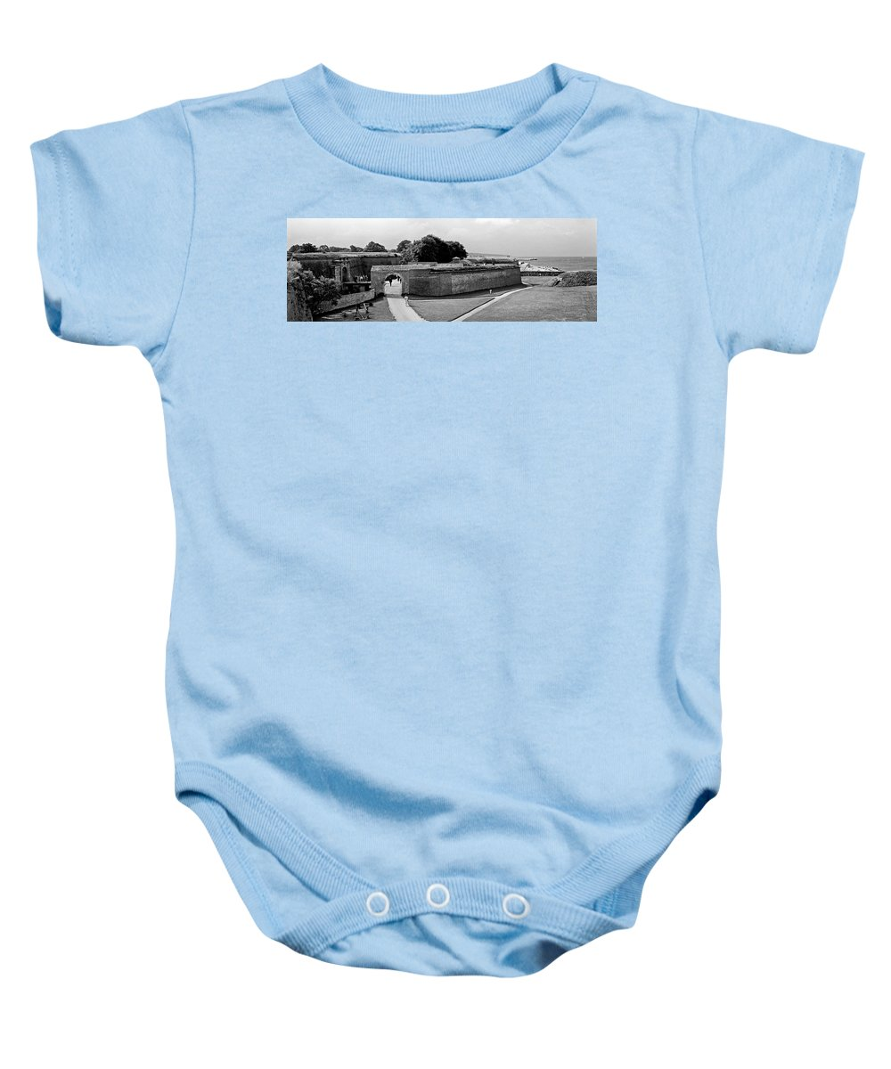 Hamlet's Castle Baby Onesie featuring the photograph Kronborg Castle 3 by Lee Santa