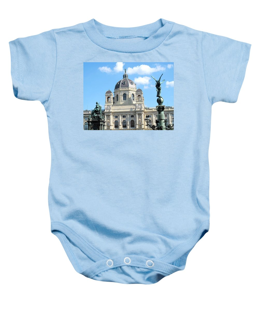 Vienna Baby Onesie featuring the photograph Kunsthistoriches Museum Vienna by Ian MacDonald