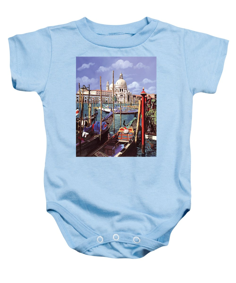 Church Baby Onesie featuring the painting La Salute by Guido Borelli