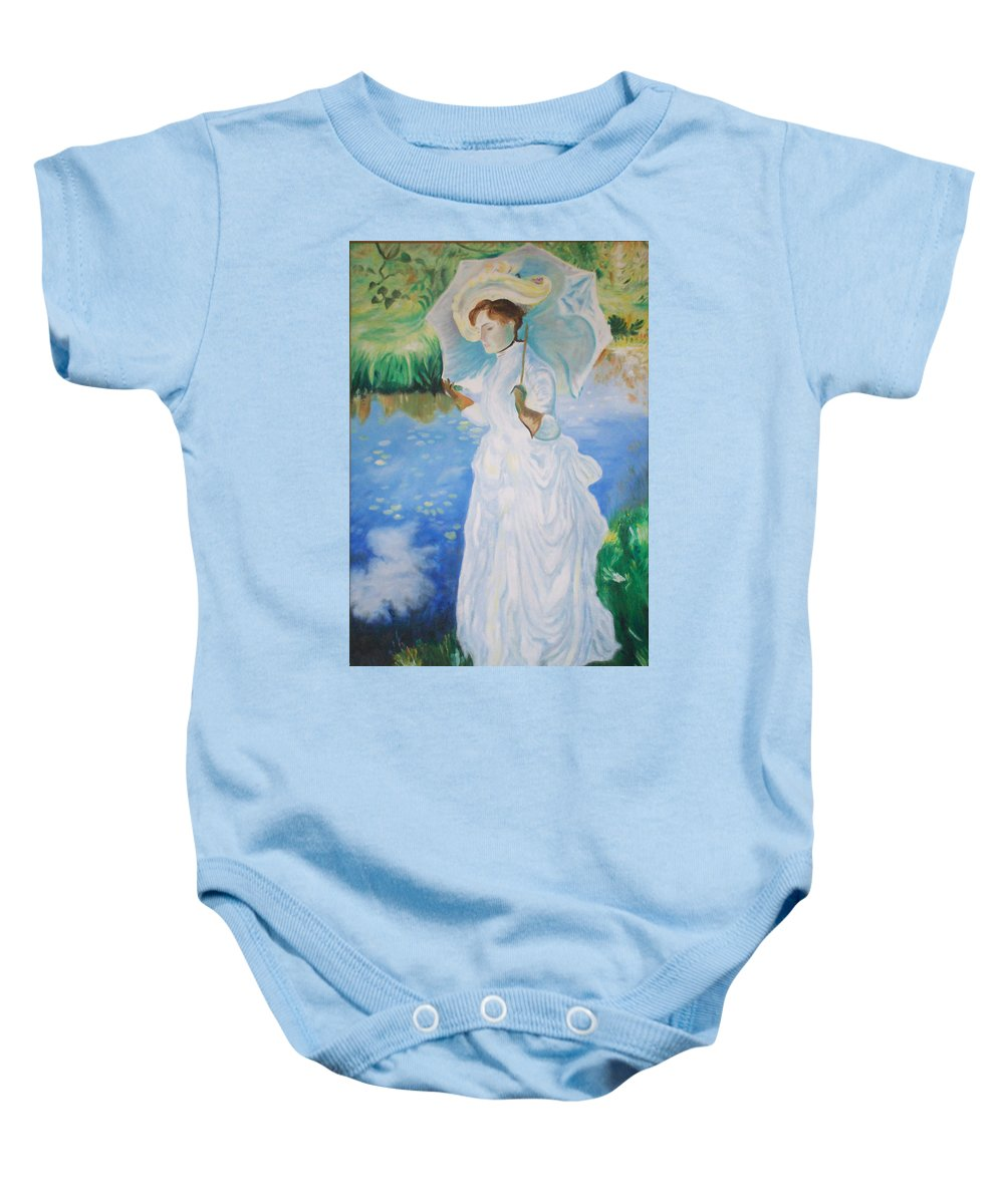 John Singer Sargent Baby Onesie featuring the painting Lady With A Parasole by Gary Hogben