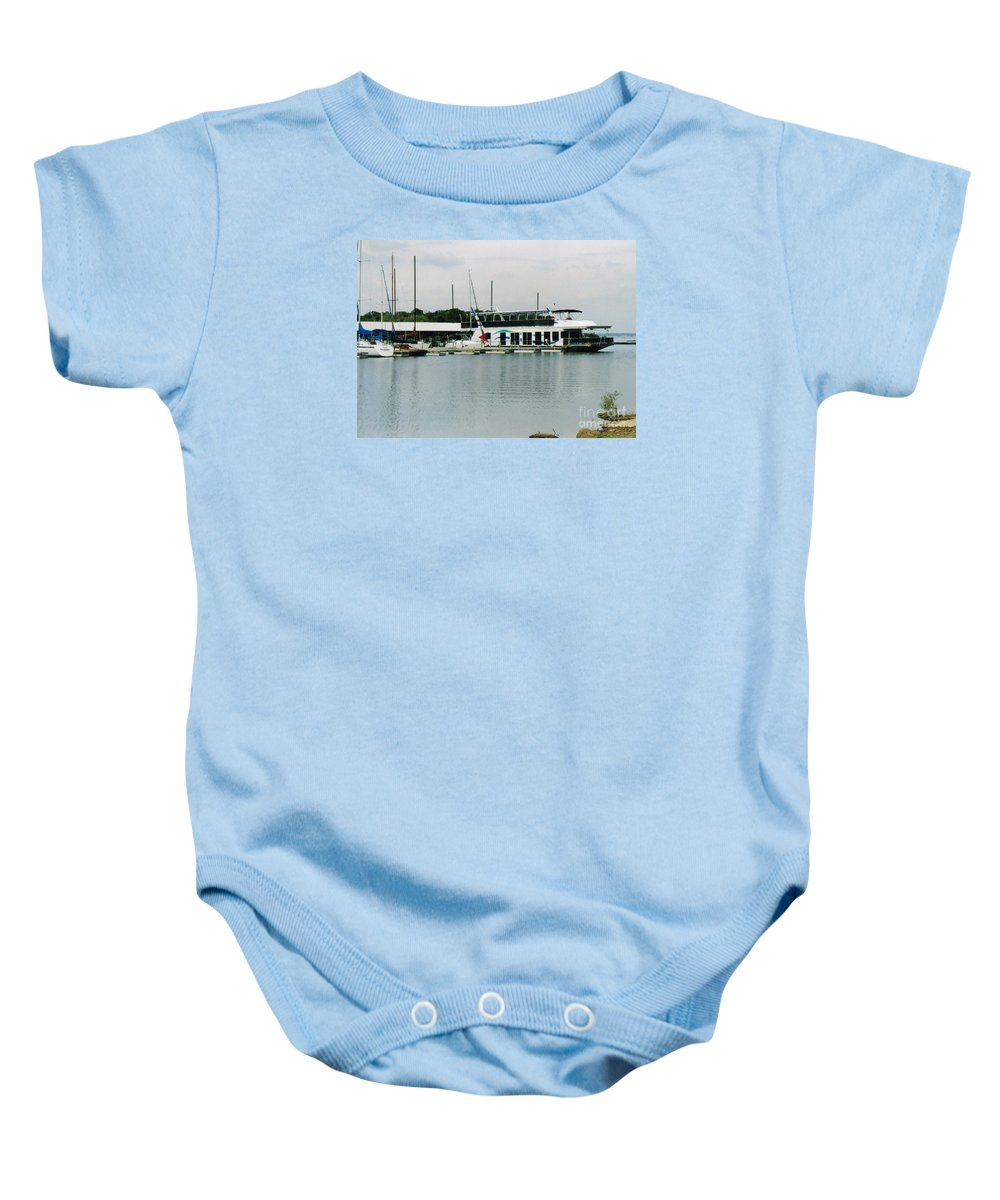 Lake Grapevine Prints Baby Onesie featuring the photograph Lake Grapevine by Ruth Housley
