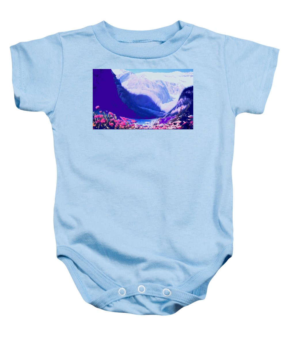 Lake Louise Baby Onesie featuring the photograph Lake Louise by Ian MacDonald