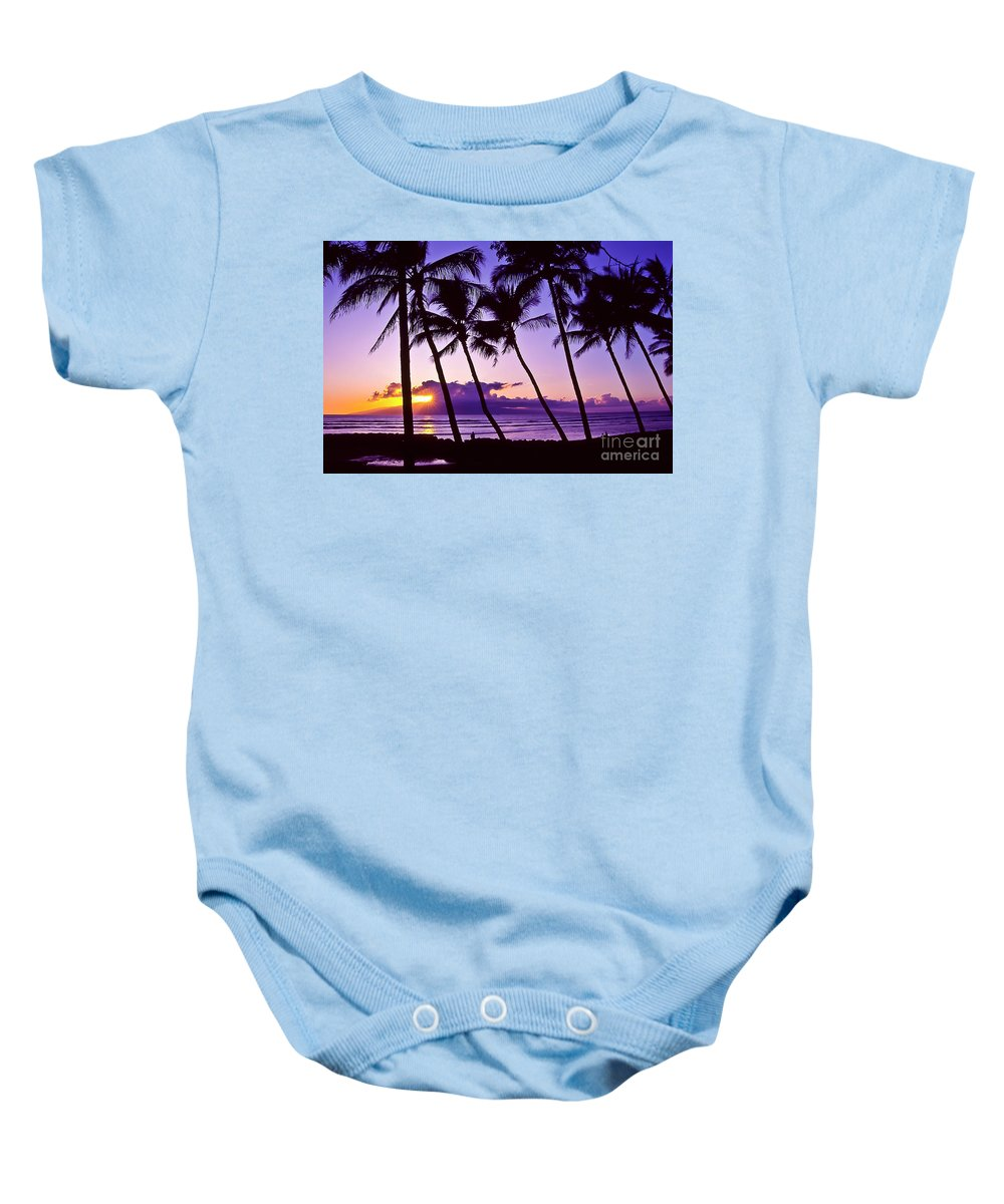 Landscapes Baby Onesie featuring the photograph Lanai Sunset by Jim Cazel