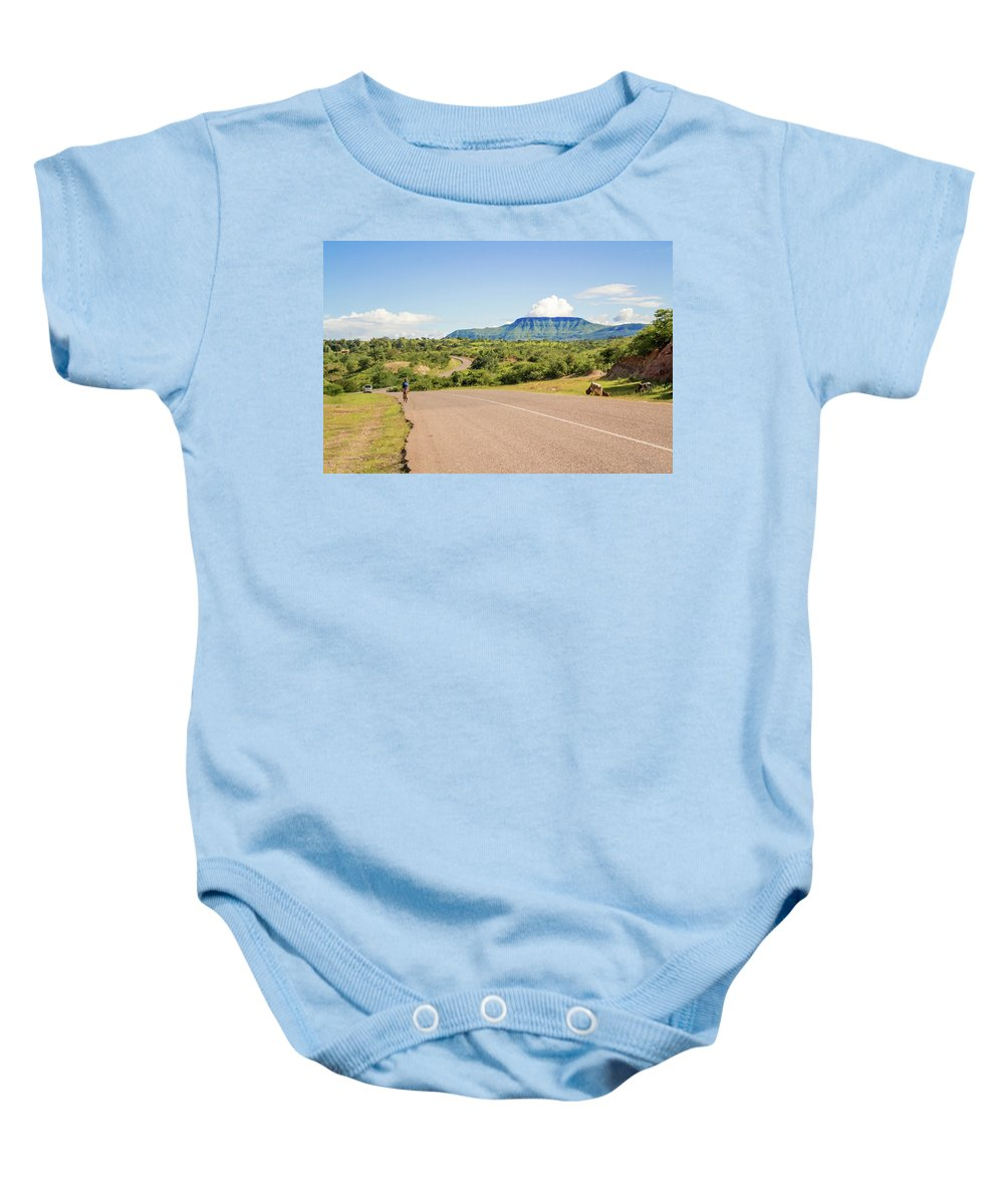 Landscape Baby Onesie featuring the photograph Landscape By Lake Malawi by Marek Poplawski
