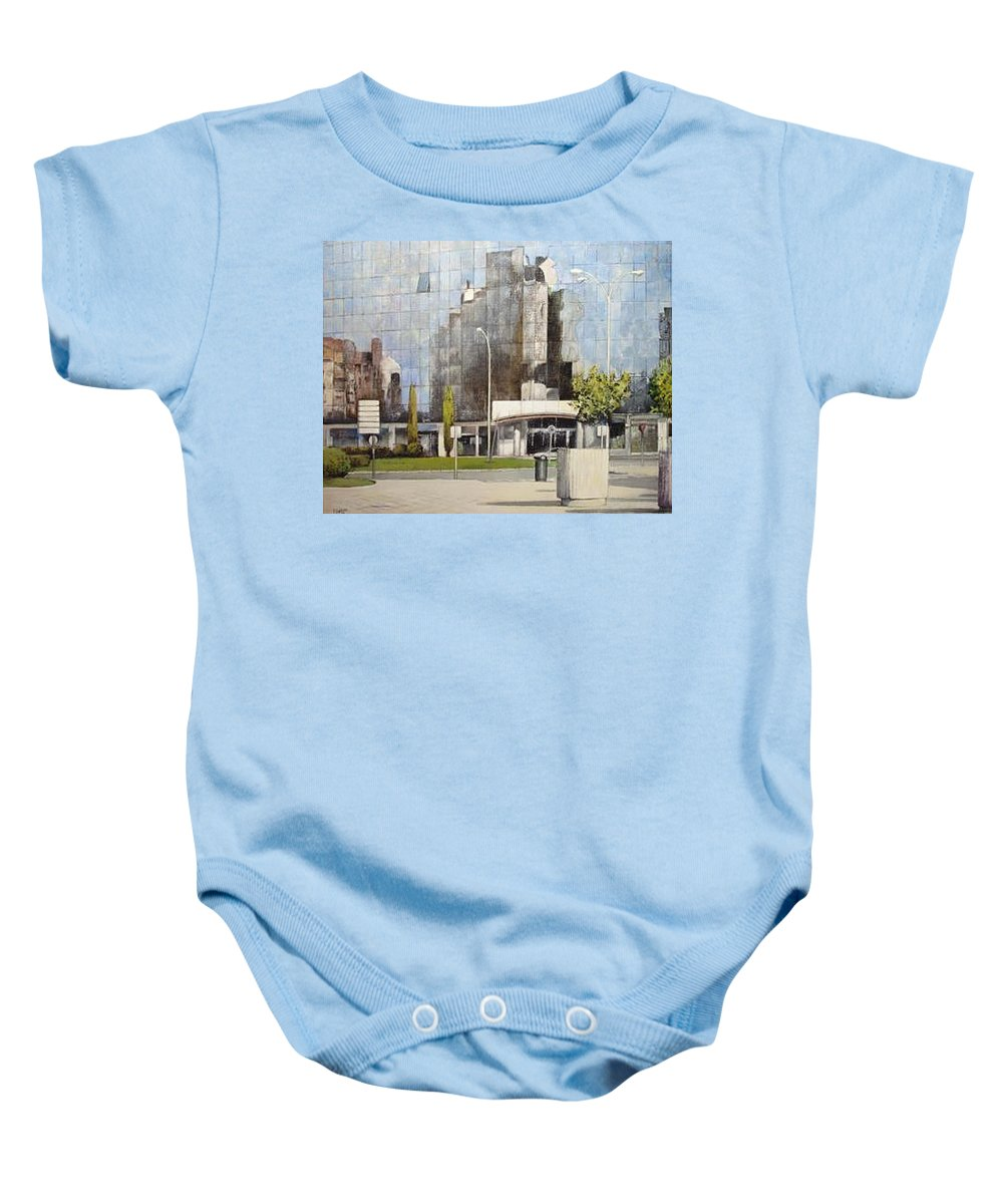 Leon Baby Onesie featuring the painting Leon by Tomas Castano