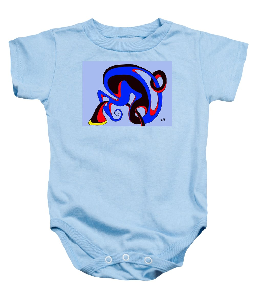 \ Baby Onesie featuring the digital art Life Circuits by Helmut Rottler