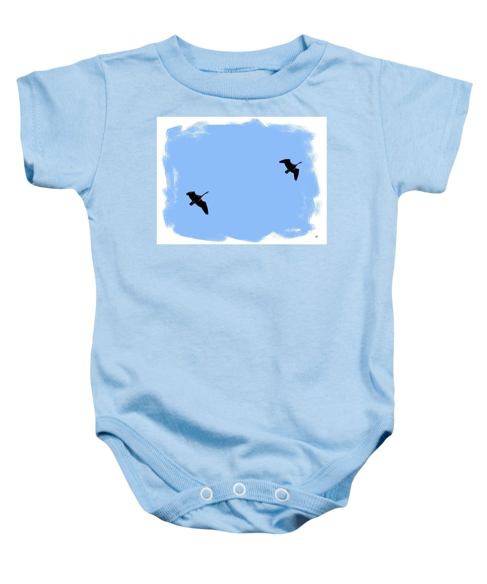 Canada Geese Baby Onesie featuring the photograph Lifetime Accord by Will Borden
