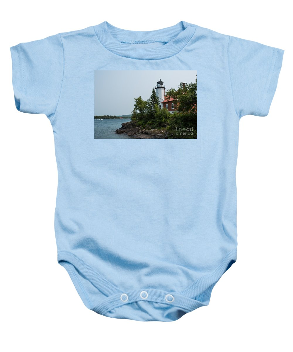 Lighthouse Baby Onesie featuring the photograph Lighthouse 2 by Wesley Farnsworth