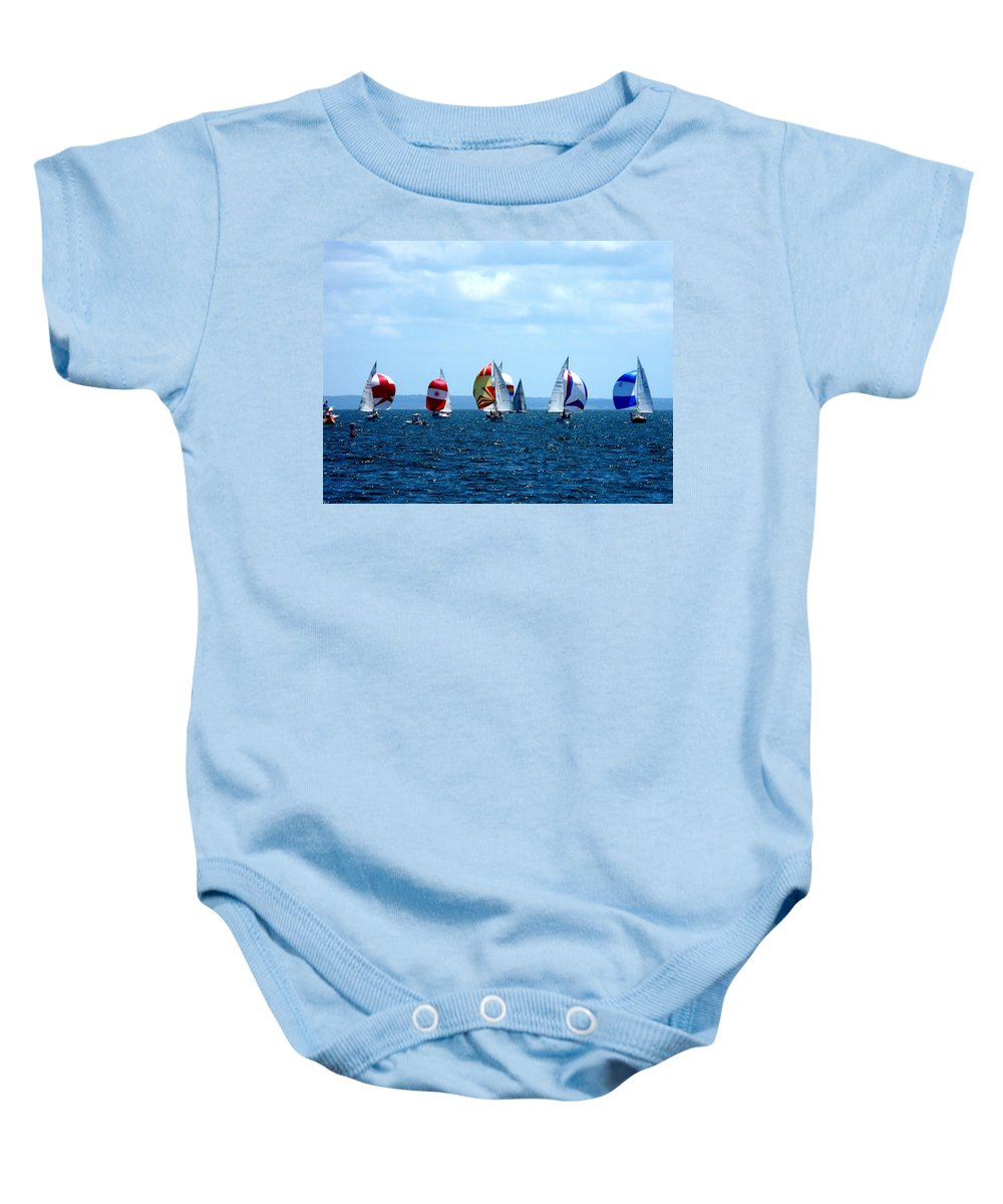 Landscape Baby Onesie featuring the photograph Line Up by Kendall Eutemey