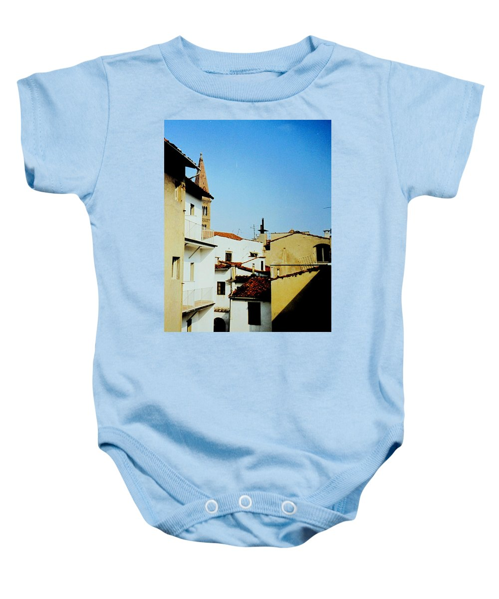 Lisbon Baby Onesie featuring the photograph Lisbon Angles by Ian MacDonald