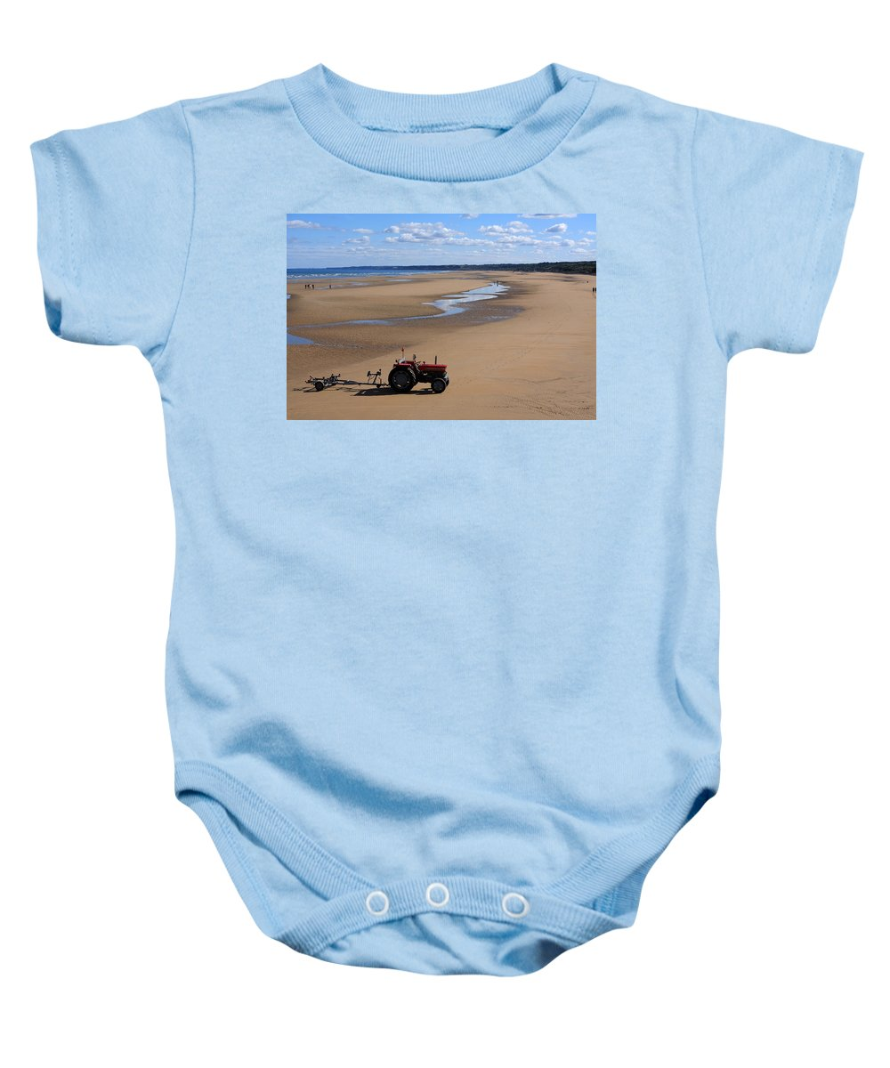 France Baby Onesie featuring the photograph Little Red Tractor by Aidan Moran