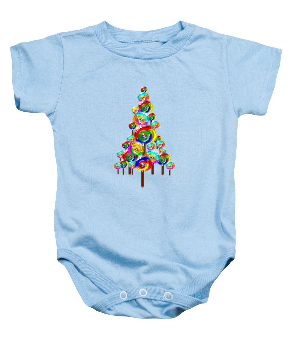 Interior Baby Onesie featuring the digital art Lollipop Tree by Anastasiya Malakhova