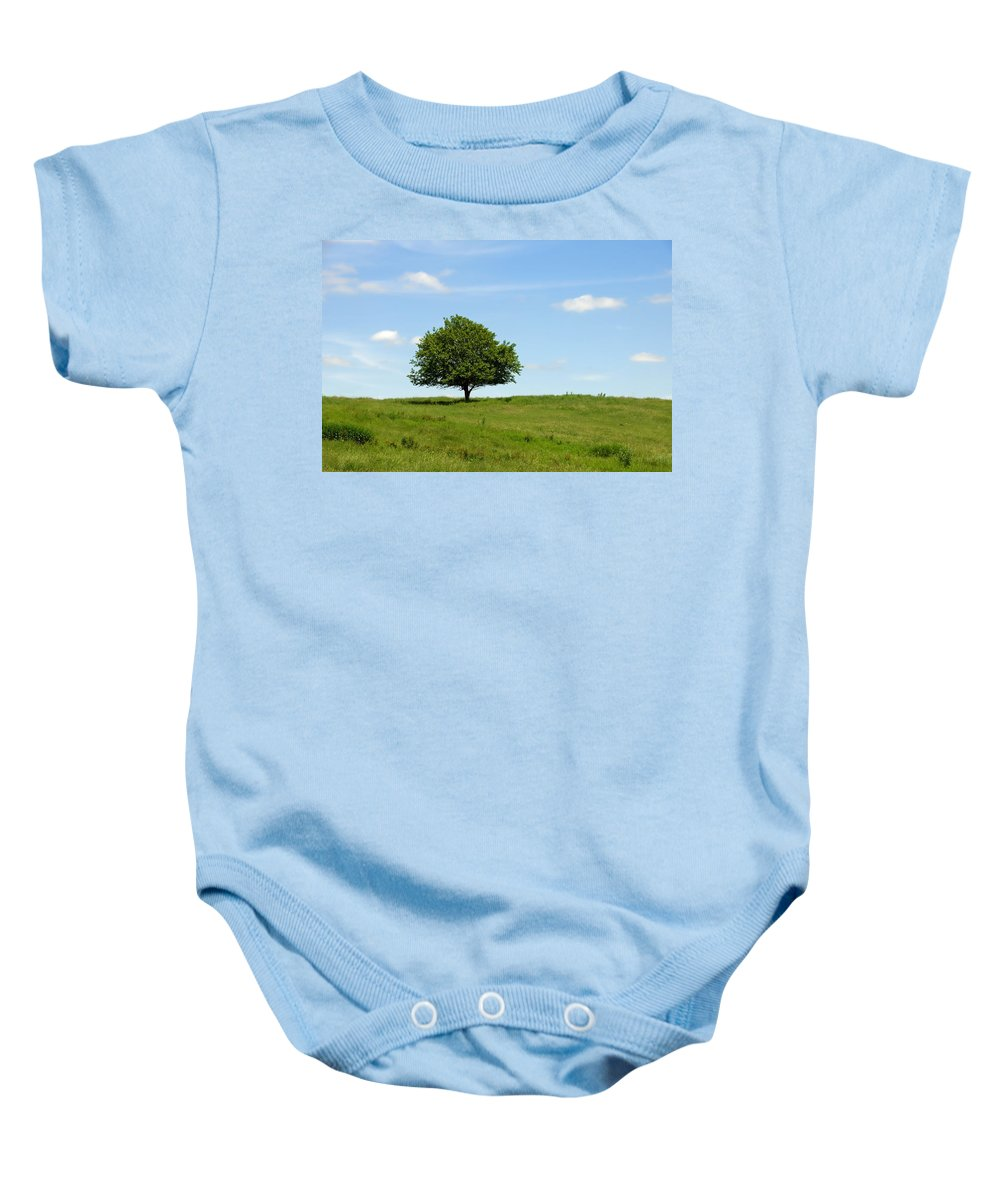 Tree Baby Onesie featuring the photograph Loner by David Arment