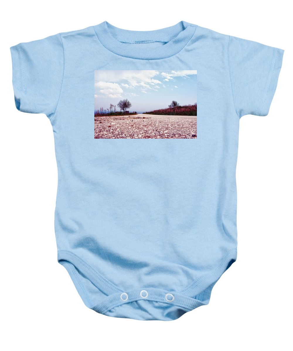Long Baby Onesie featuring the photograph Long Way by Artur Gjino
