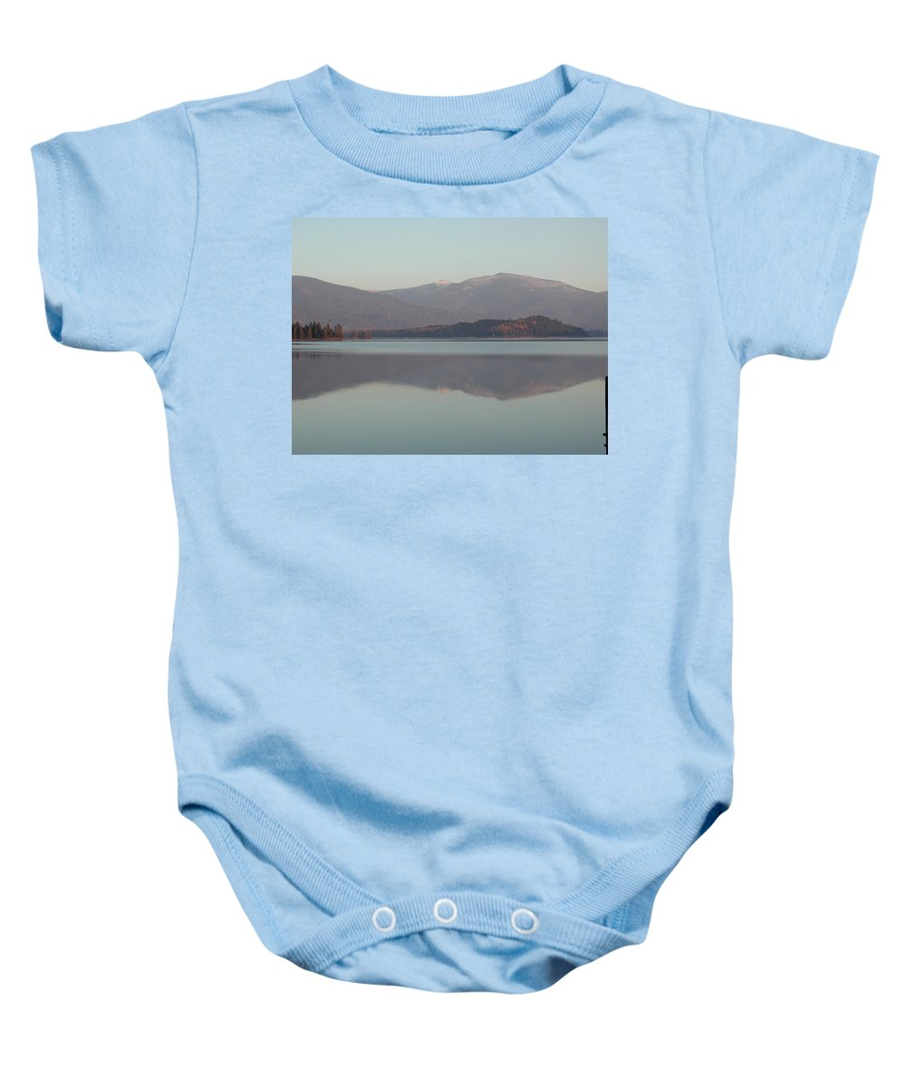 Lake Baby Onesie featuring the photograph Looks Like Winter by Karyn Christner